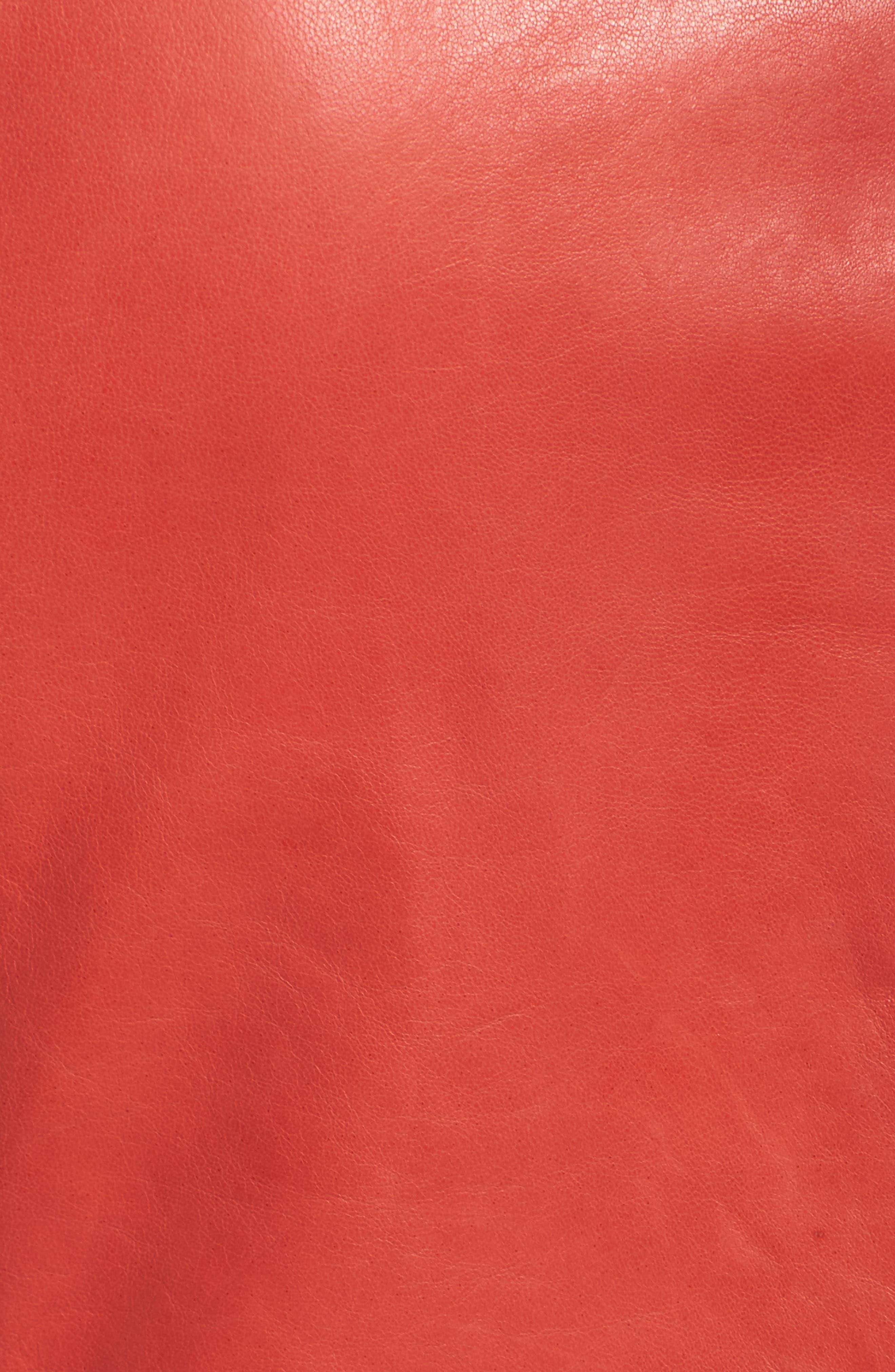 Alternate Image 5  - Lafayette 148 New York Caridee Glazed Lambskin Leather Jacket (Plus Size)