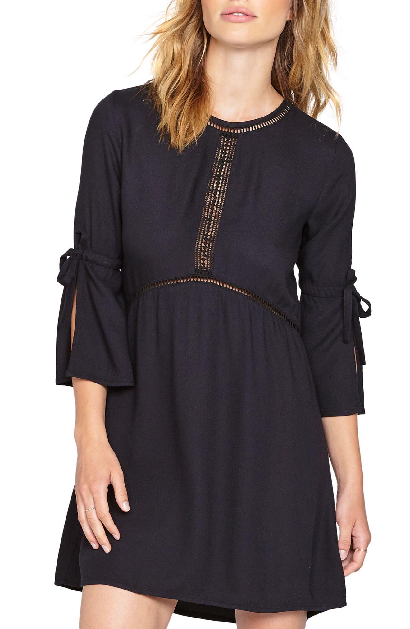 On the Go Crepe Dress,                         Main,                         color, Black Sands