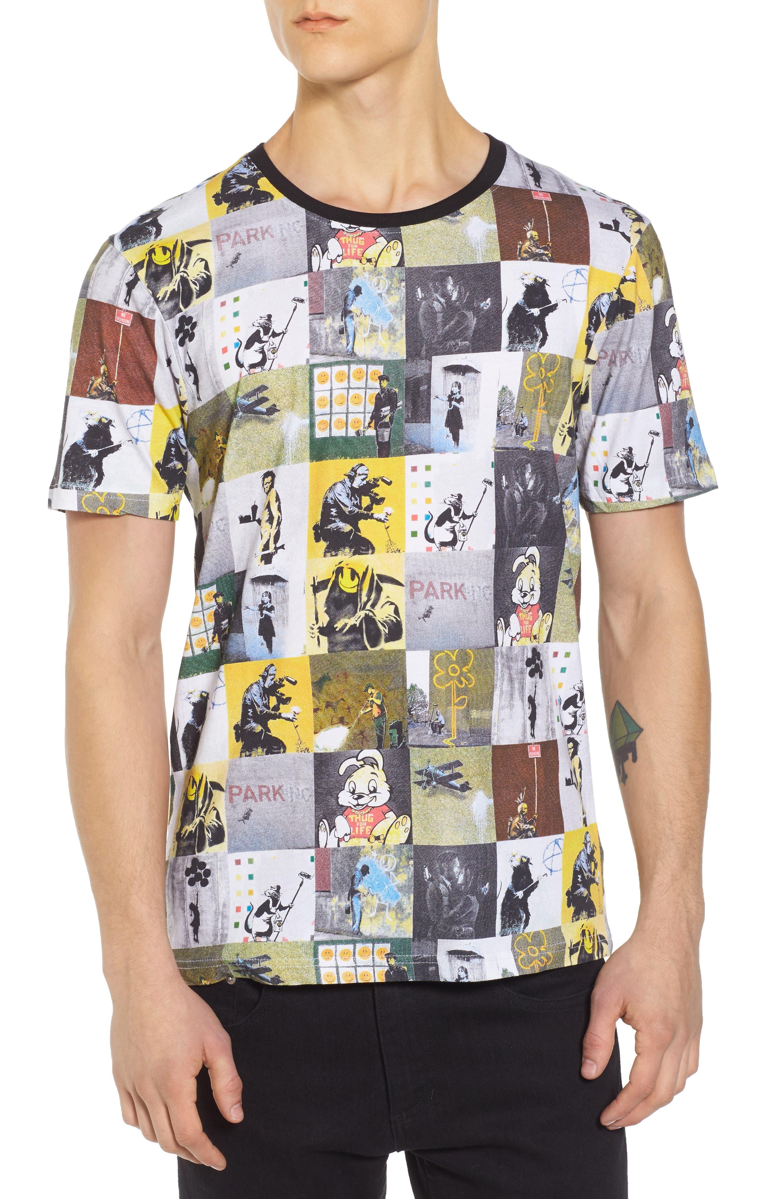 Collage T-Shirt,                         Main,                         color, Black