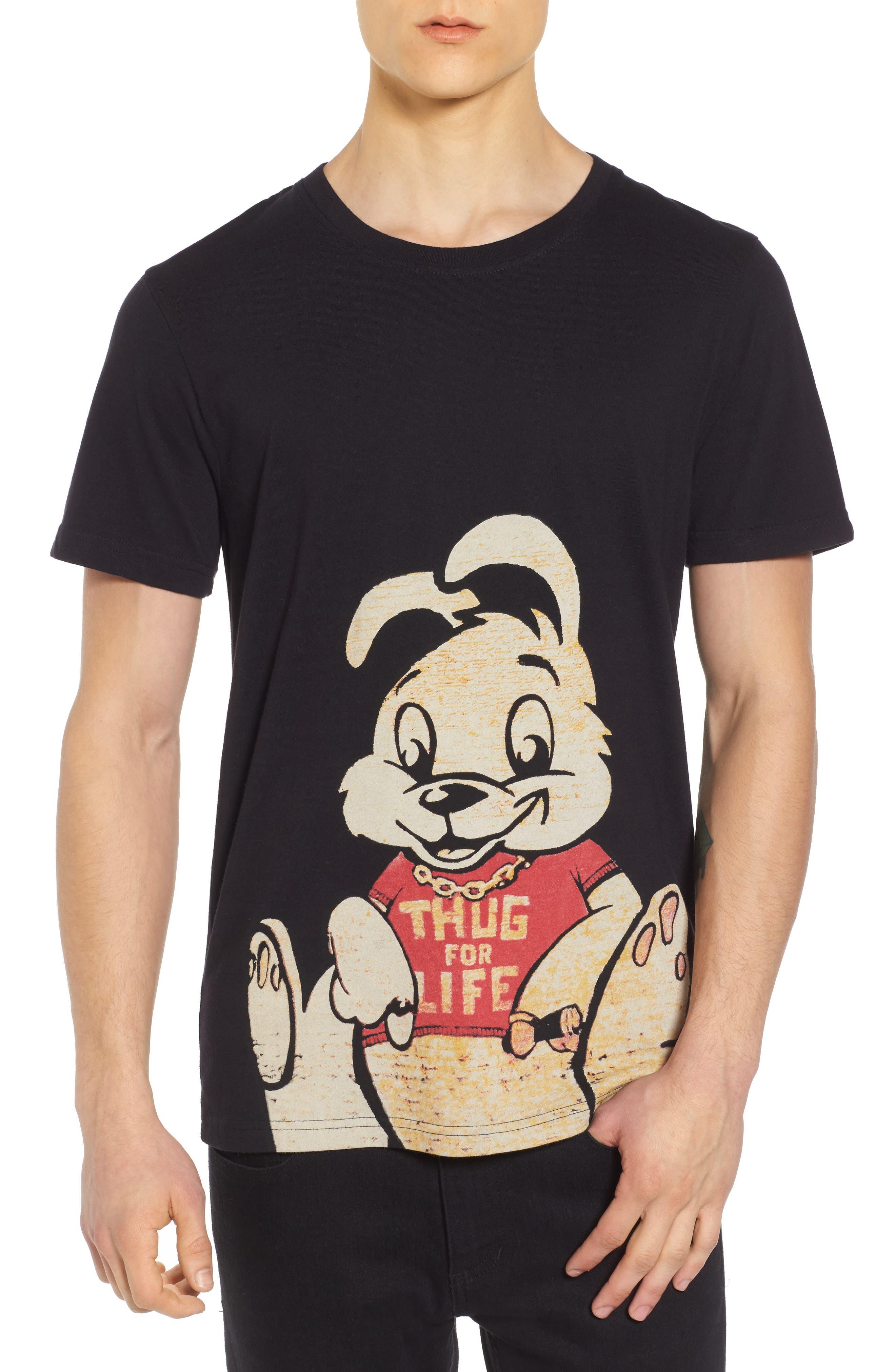 Thug for Life T-Shirt,                             Main thumbnail 1, color,                             Black
