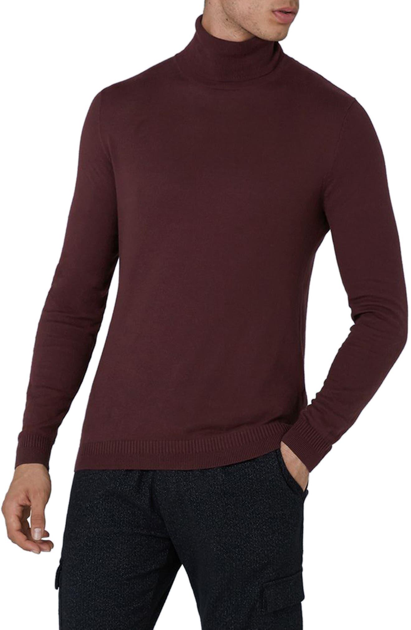 Topman Cotton Turtleneck Sweater