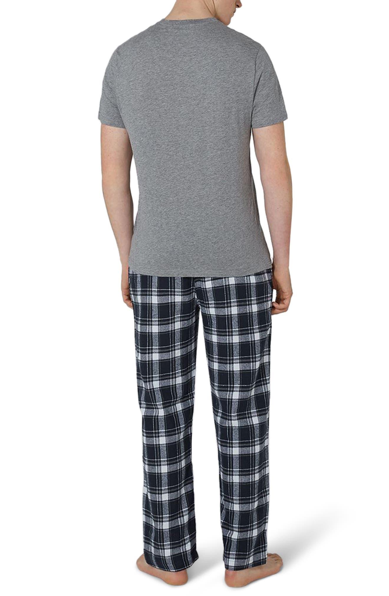 Check Pajama Set,                             Alternate thumbnail 2, color,                             Dark Blue