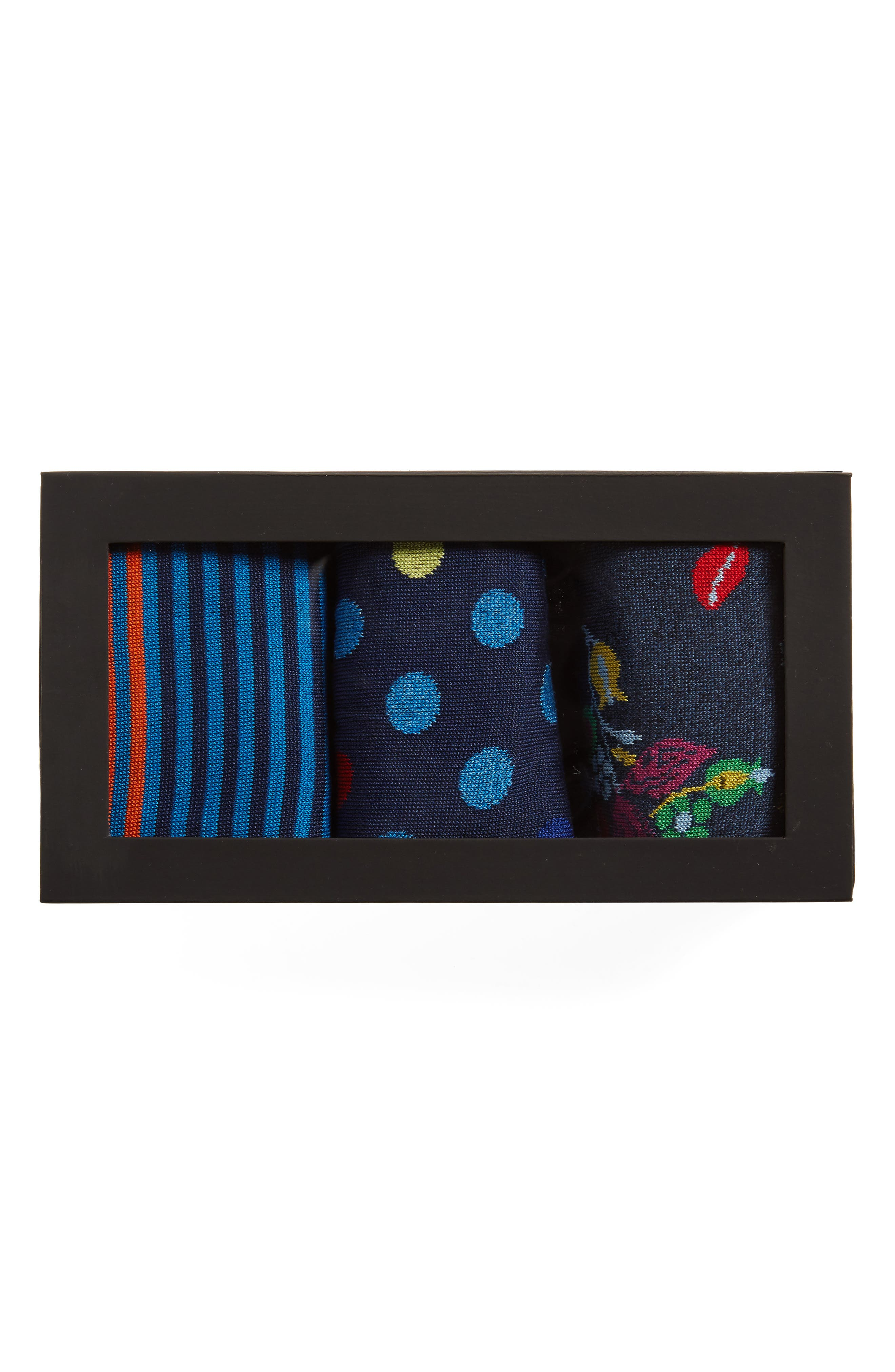 Alternate Image 2  - Bugatchi 3-Pack Mixed Pattern Cotton & Cashmere Blend Socks ($59.85 Value)