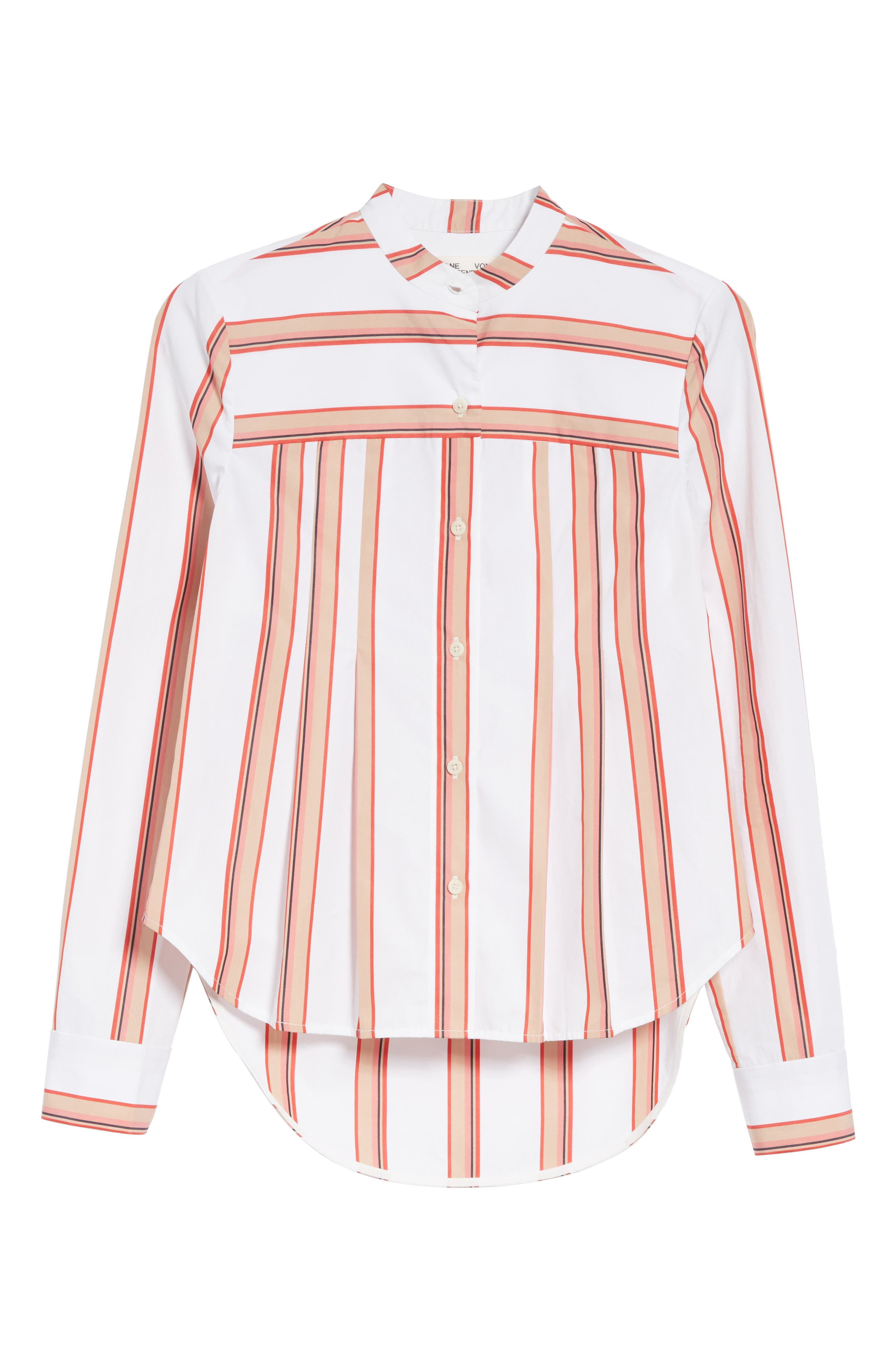 Stripe Shirt,                             Alternate thumbnail 6, color,                             Ivory Multi