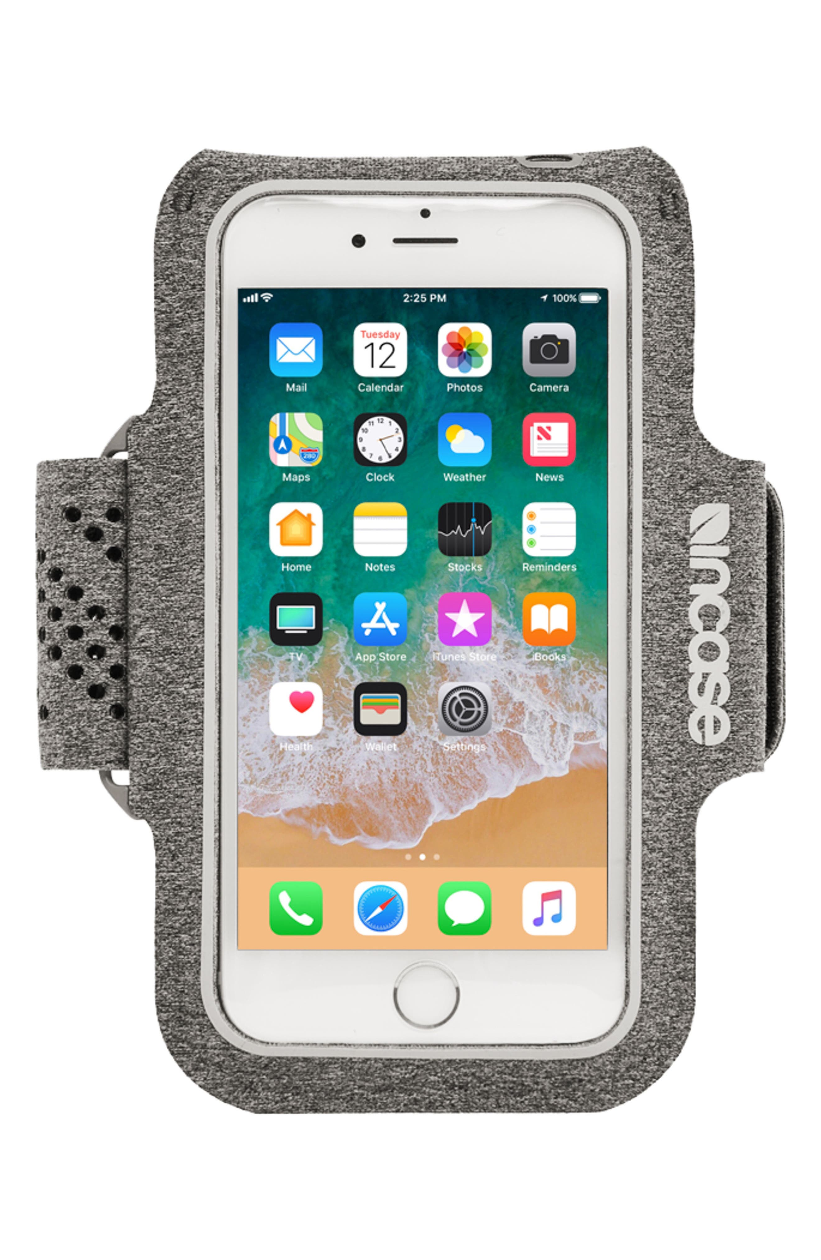 iPhone 7/8 Plus Active Armband,                         Main,                         color, Heather Grey