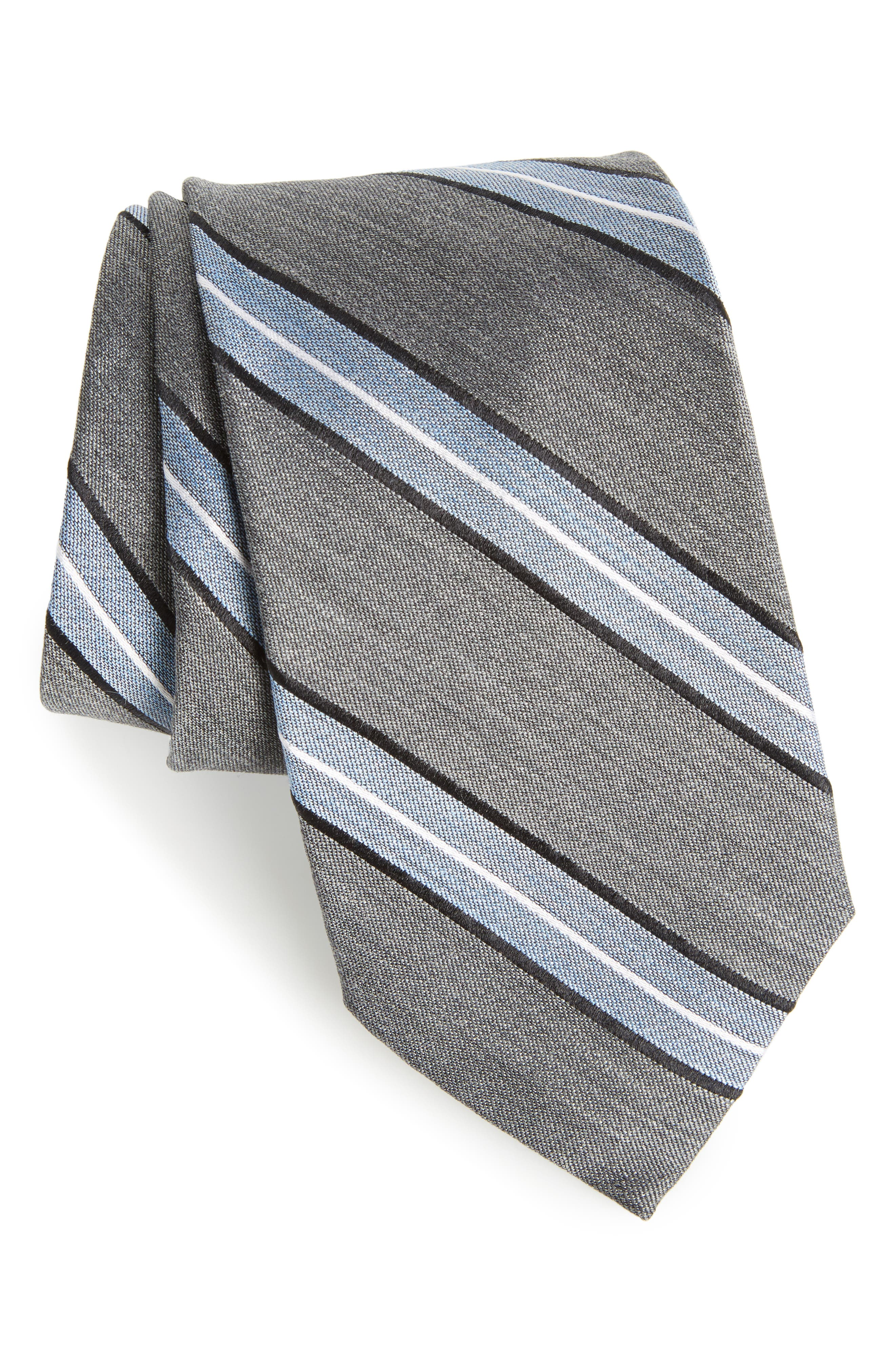 Nordstrom Men's Shop Peralba Stripe Silk Blend Tie
