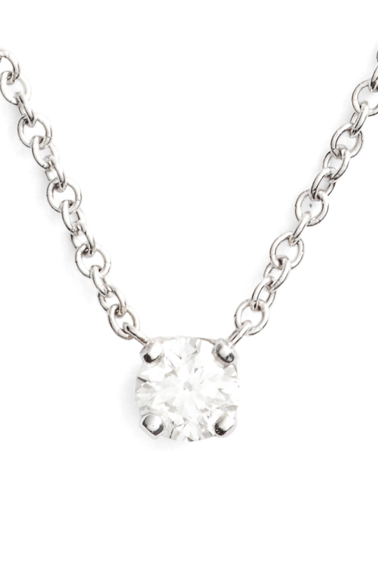 Alternate Image 1 Selected - Bony Levy Liora Diamond Solitaire Pendant Necklace (Nordstrom Exclusive)