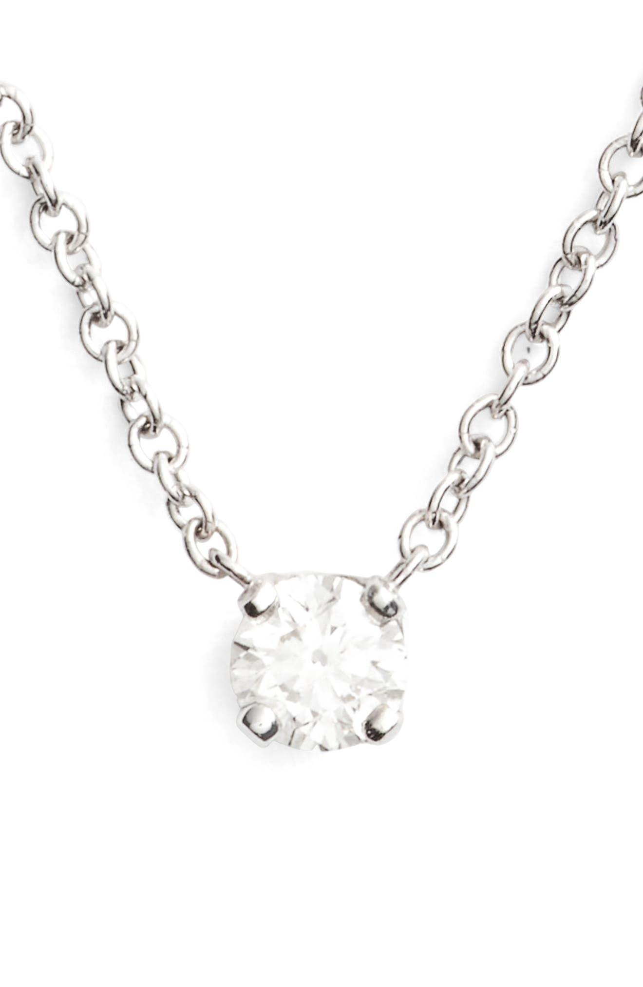 Main Image - Bony Levy Liora Diamond Solitaire Pendant Necklace (Nordstrom Exclusive)