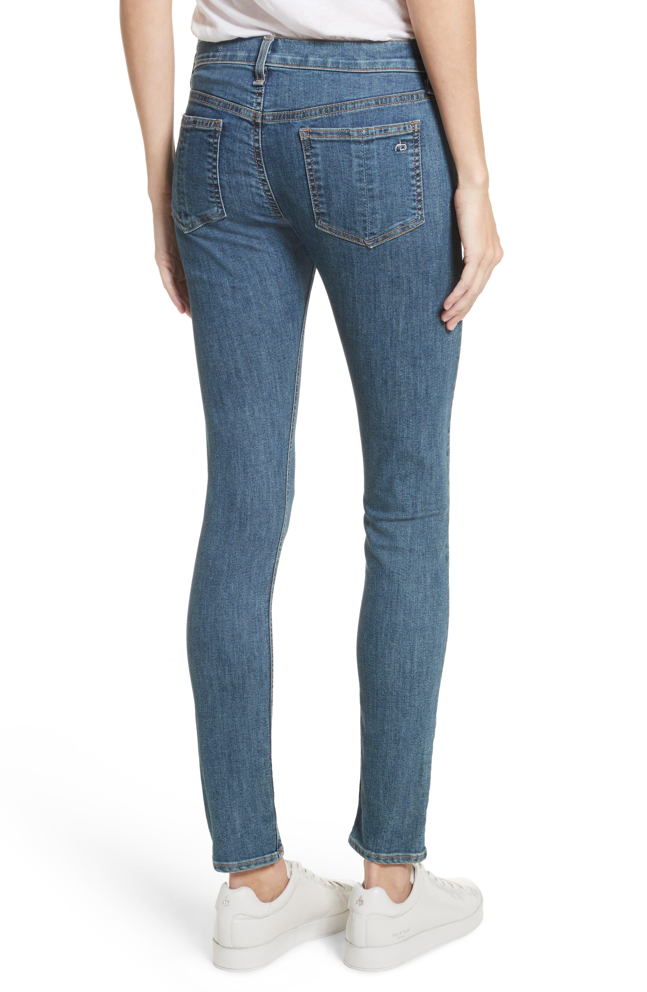 Skinny Jeans,                             Alternate thumbnail 2, color,                             Bloo