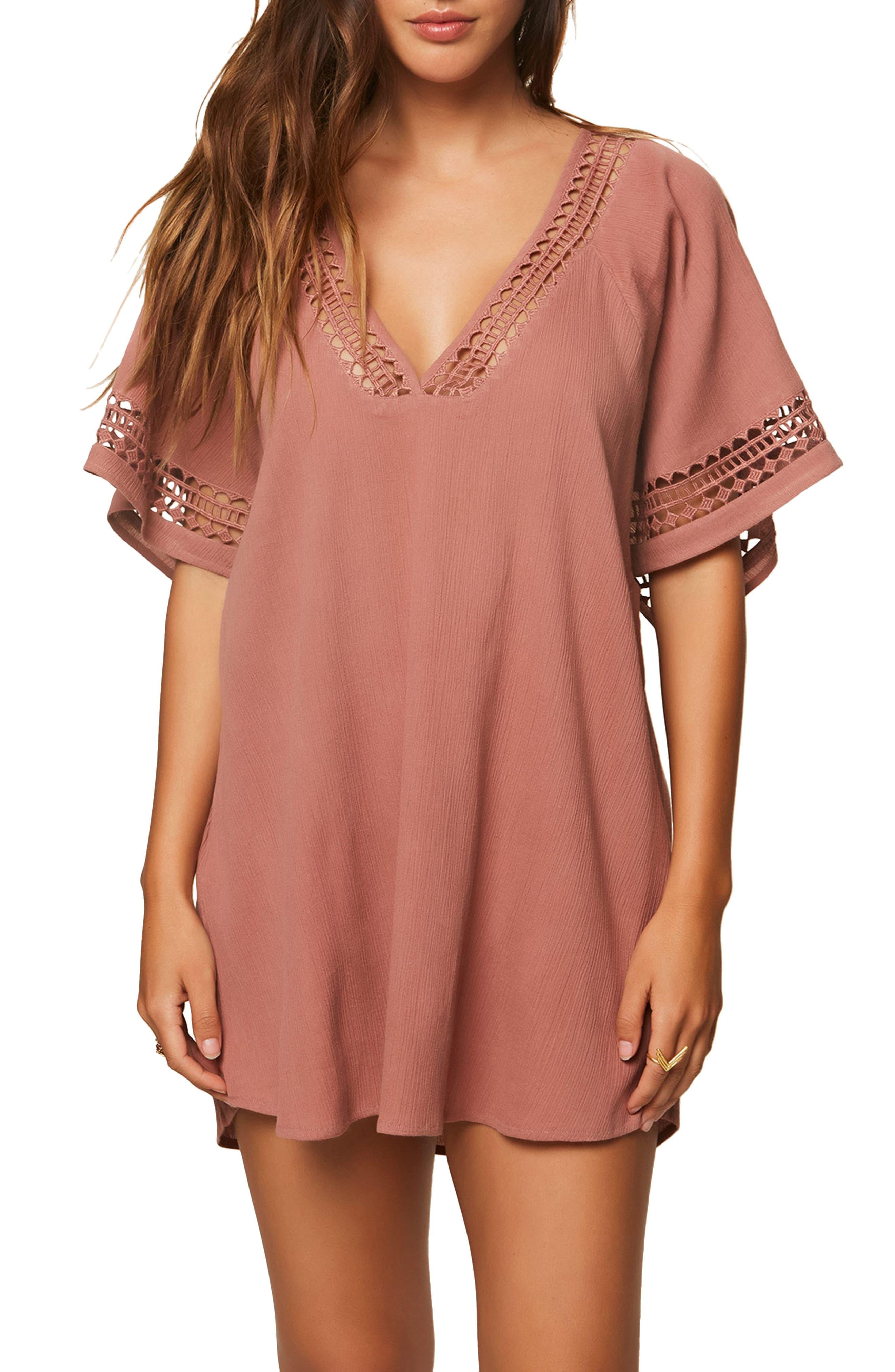 Celeste Cover-Up Dress,                         Main,                         color, Carmel