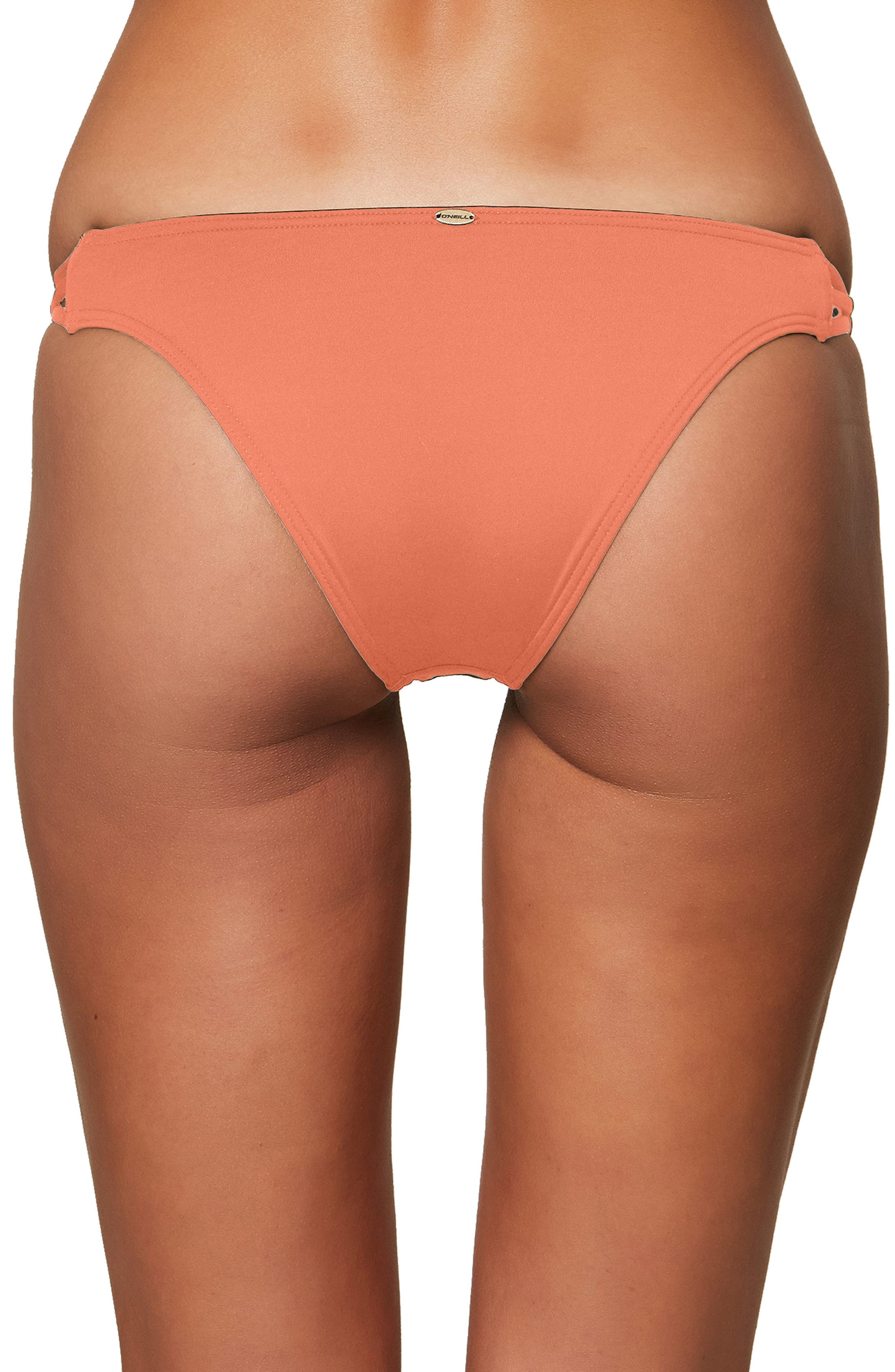 Salt Water Solids Strappy Bikini Bottoms,                             Alternate thumbnail 2, color,                             Coral Punch