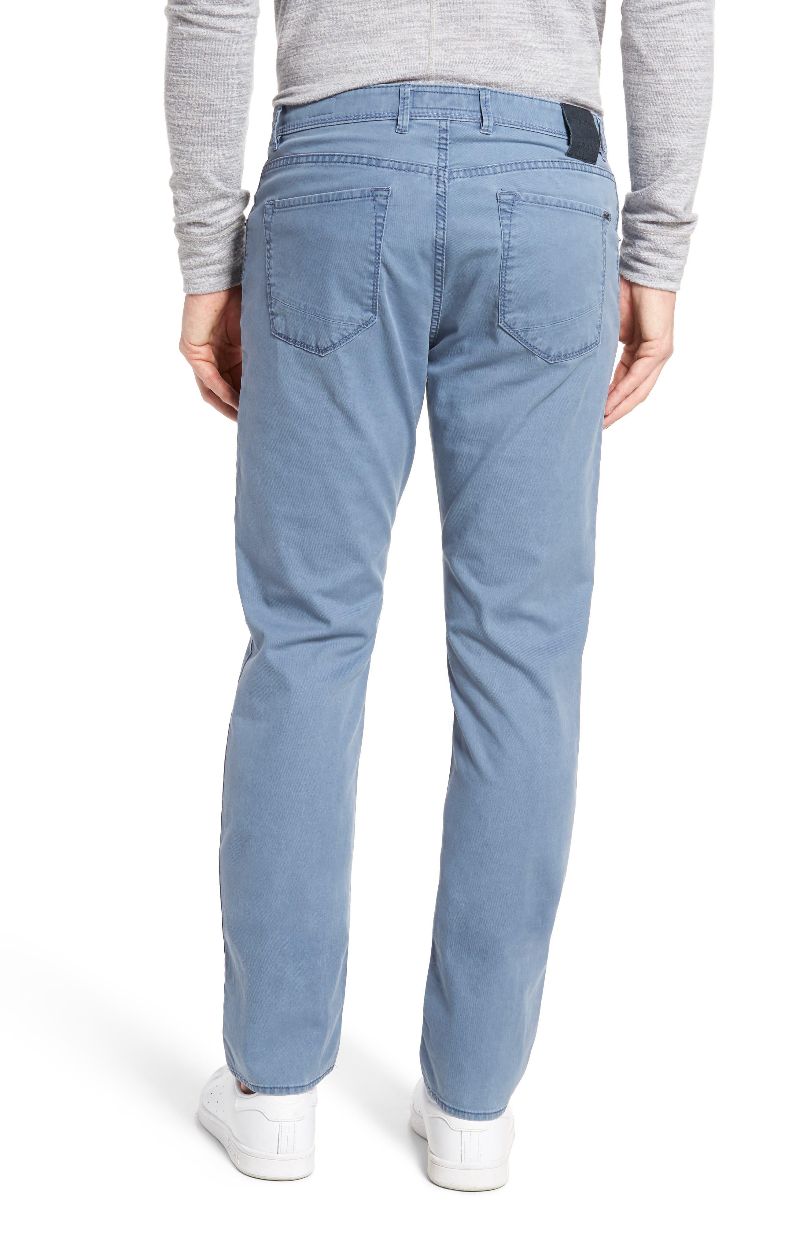 Chuck Flat Front Stretch Cotton Pants,                             Alternate thumbnail 2, color,                             Sky Blue