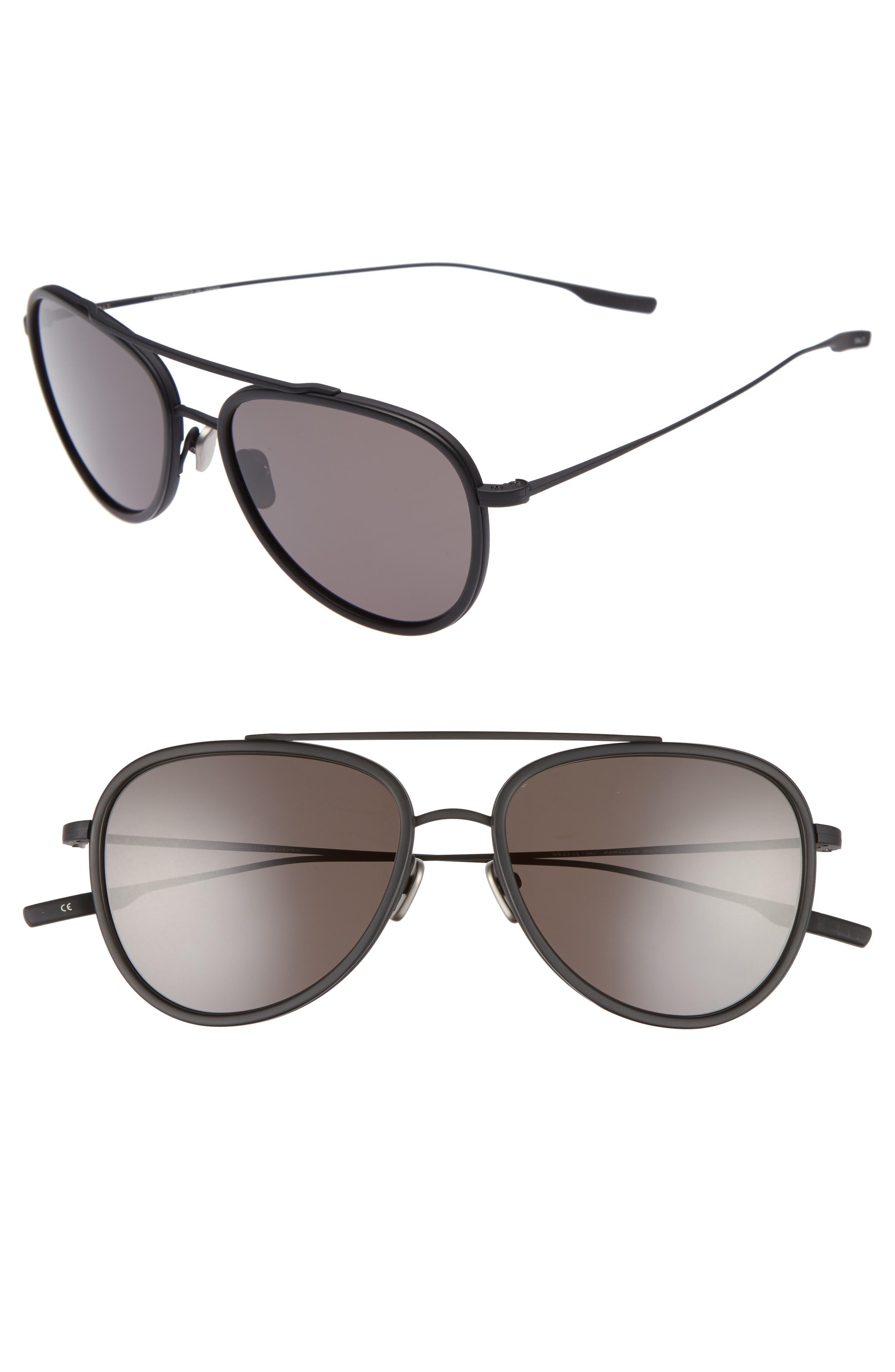 Paragon 55mm Polarized Aviator Sunglasses,                             Main thumbnail 1, color,                             Black Sand/ Matte Black