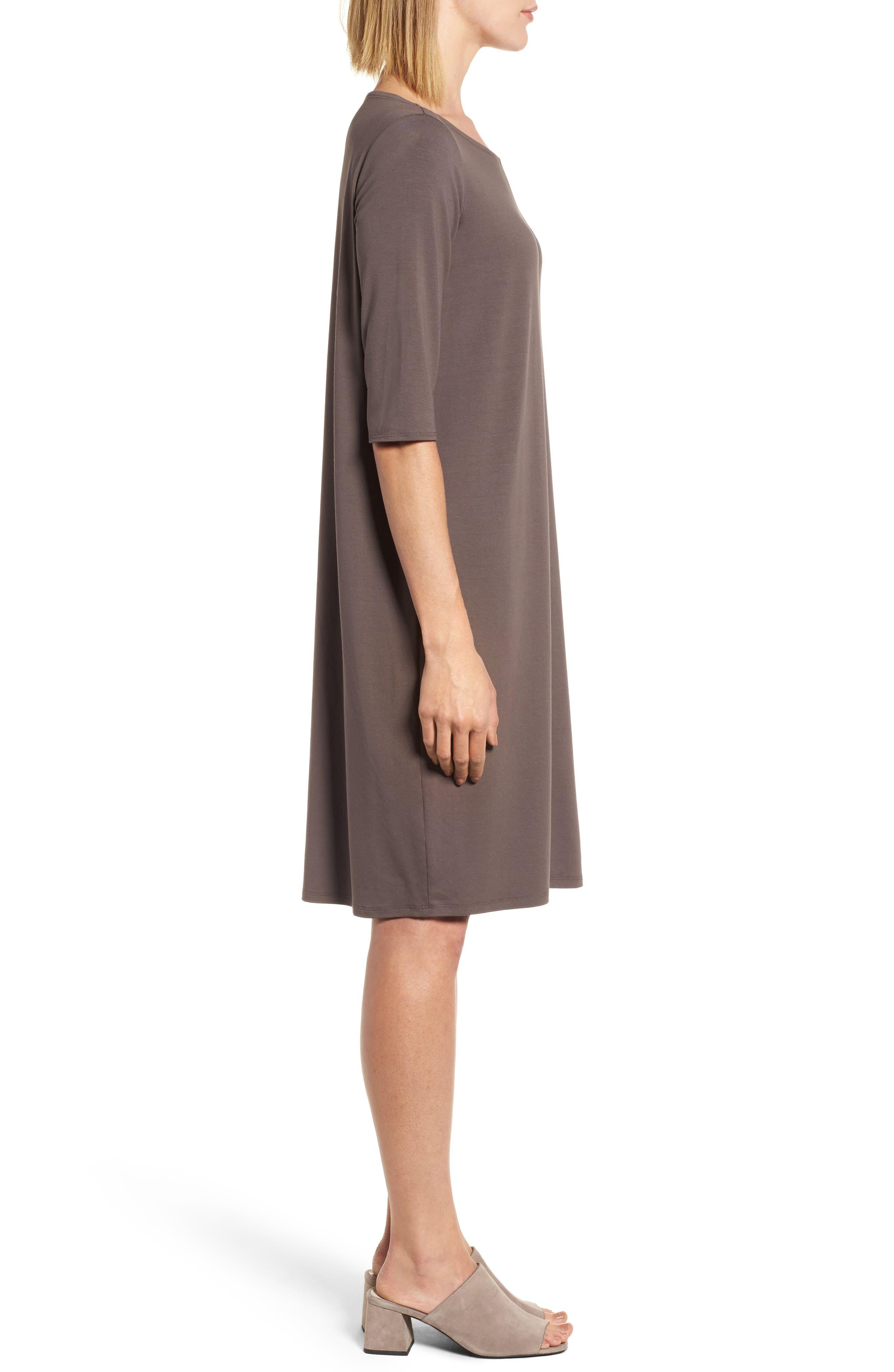 Alternate Image 3  - Eileen Fisher Jersey Shift Dress