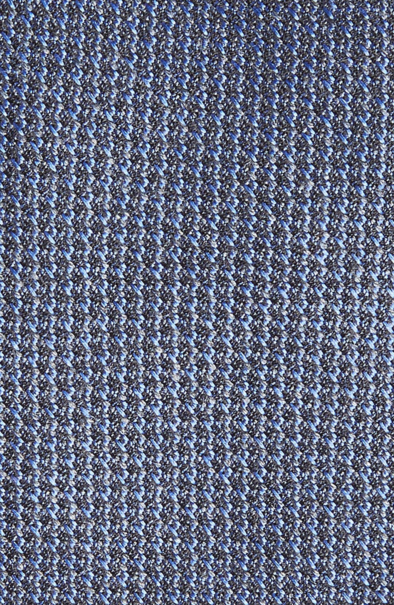 Kenton Textured Silk Blend Skinny Tie,                             Alternate thumbnail 2, color,                             Navy