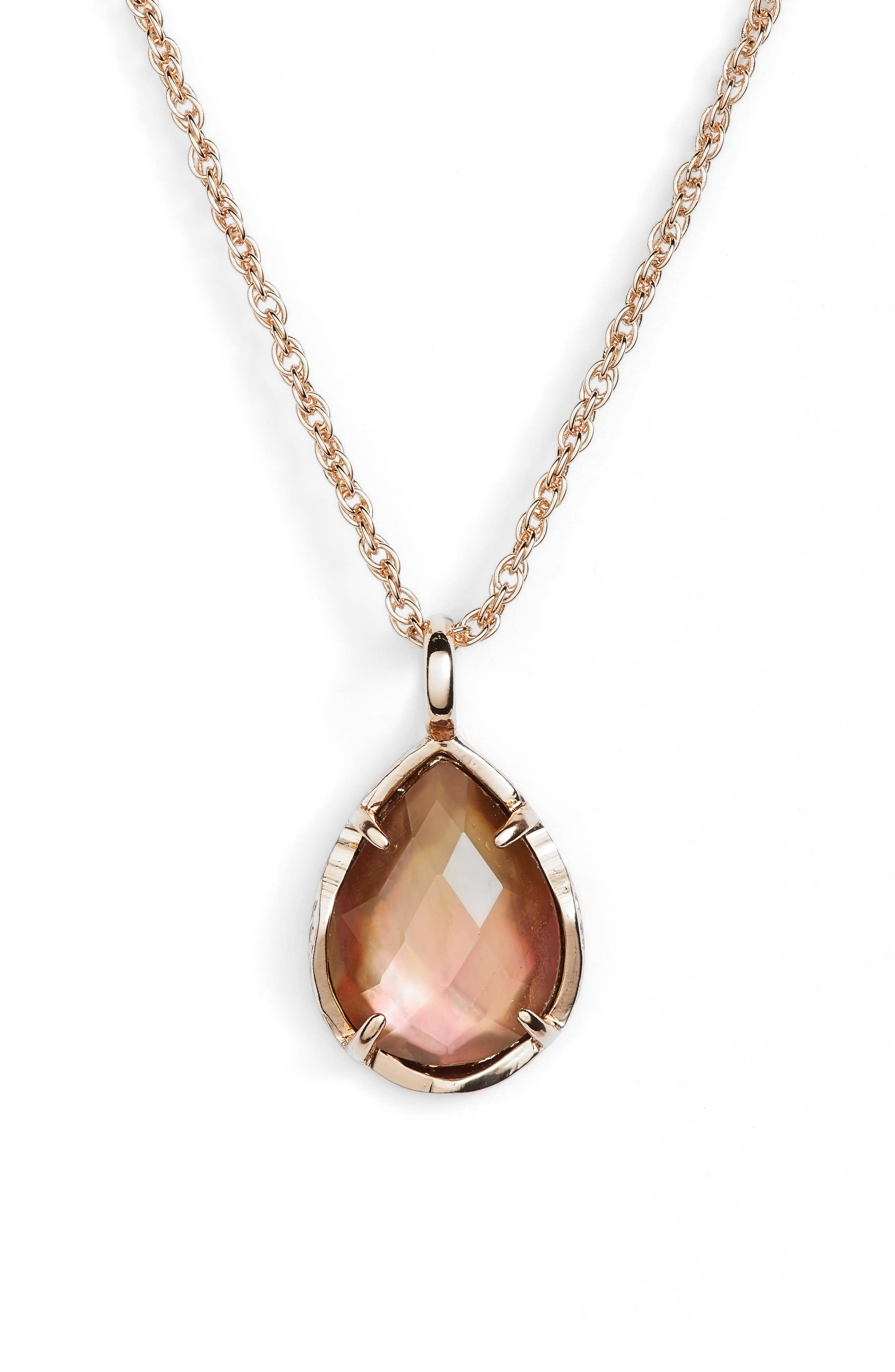 Alternate Image 1 Selected - Kendra Scott Kiri Teardrop Pendant Necklace