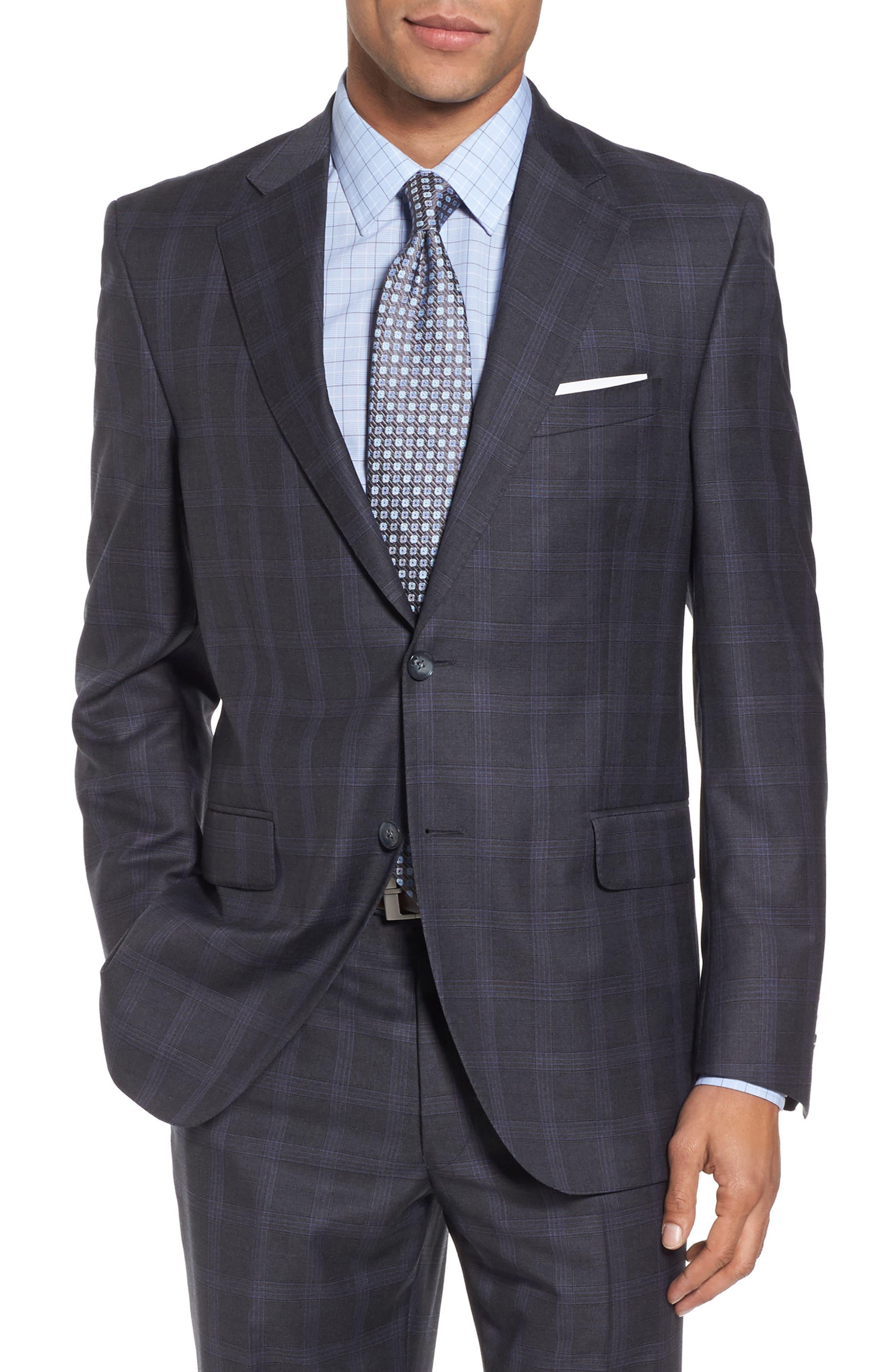 Alternate Image 5  - Peter Millar Classic Fit Plaid Wool Suit