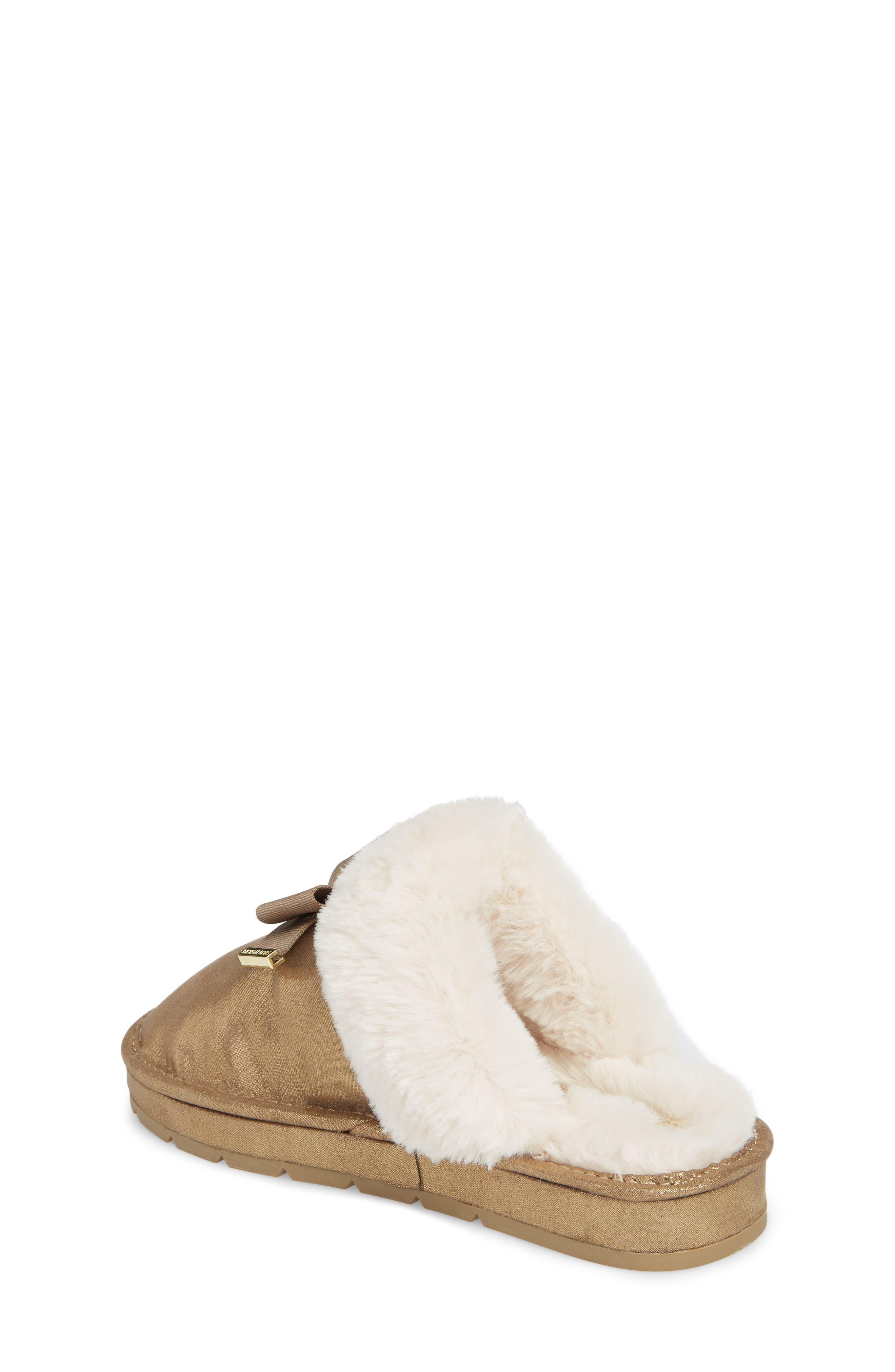 Alternate Image 2  - MICHAEL Michael Kors Grace Bow Faux Fur Lined Mule (Toddler, Little Kid & Big Kid)