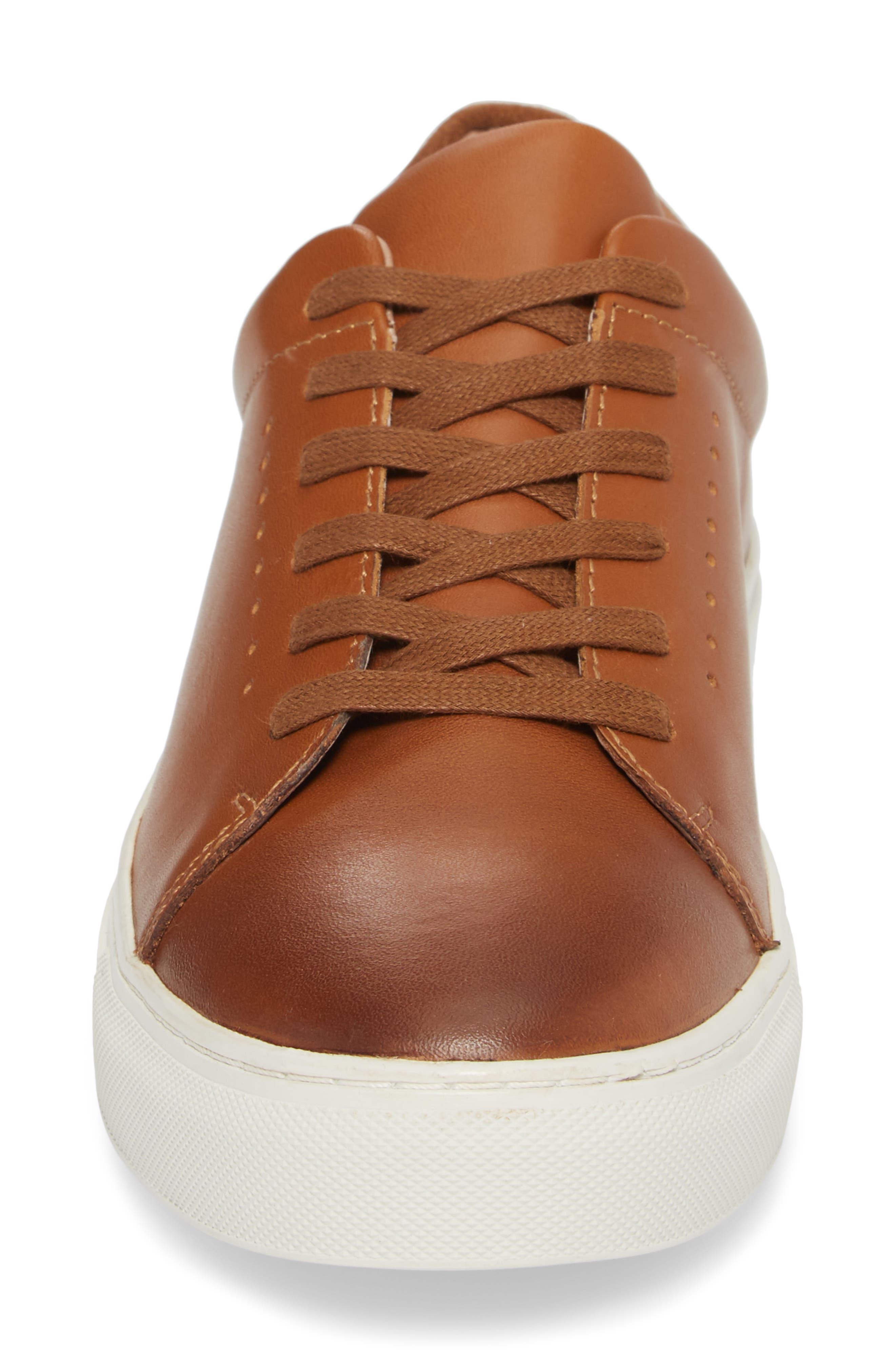 Desmond Sneaker,                             Alternate thumbnail 4, color,                             Tan Leather