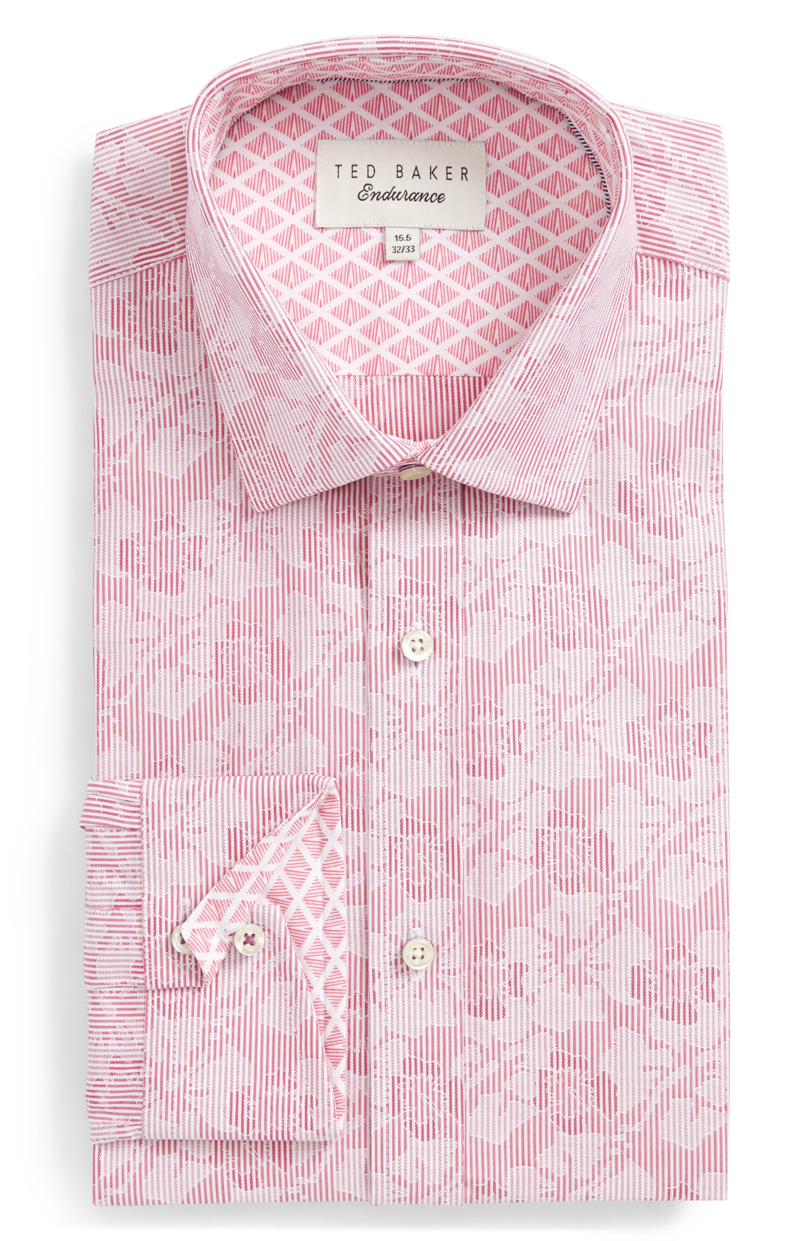 Main Image - Ted Baker London Orlov Trim Fit Floral Dress Shirt