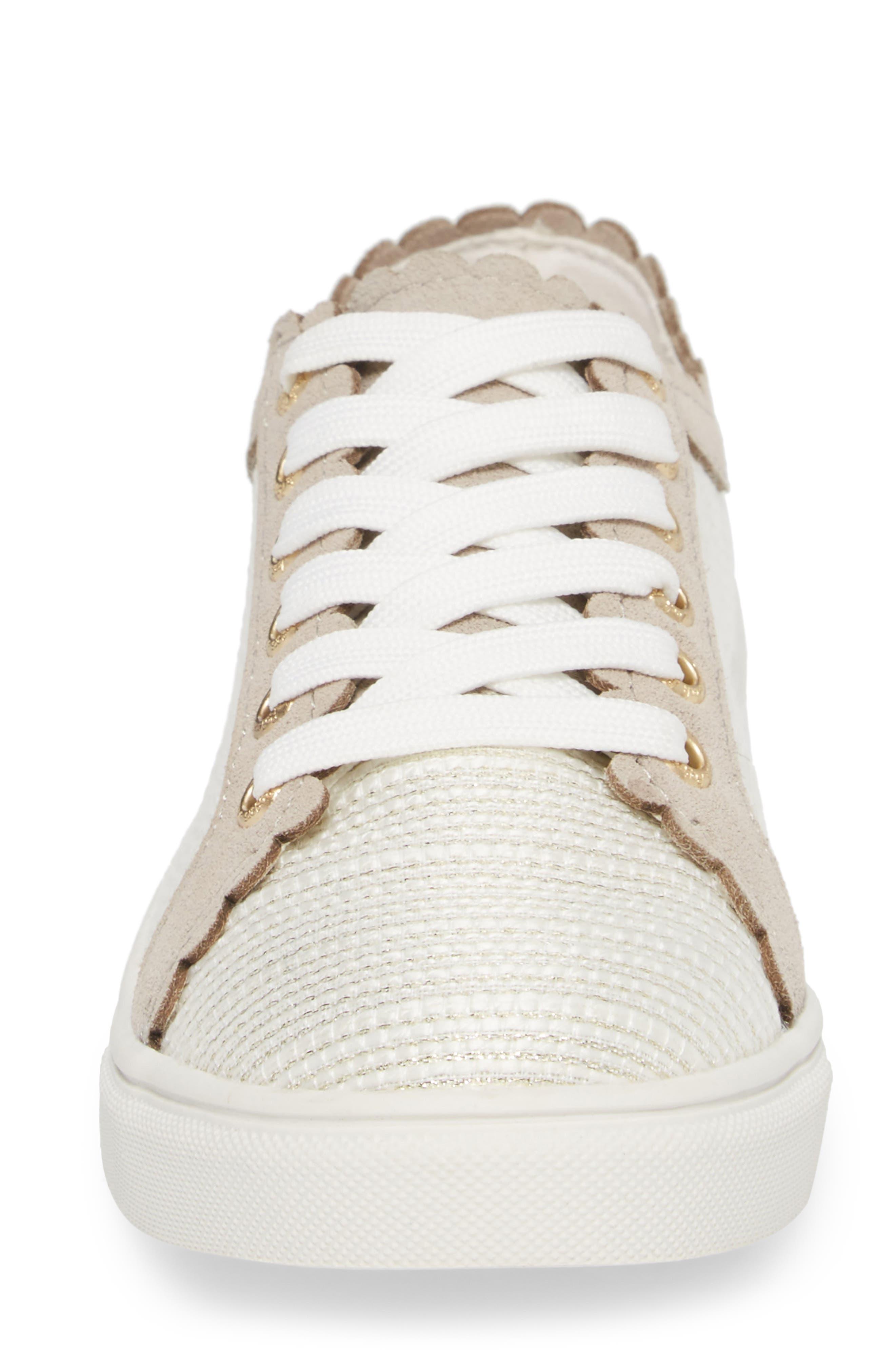 Teagan Sneaker,                             Alternate thumbnail 4, color,                             Ecru