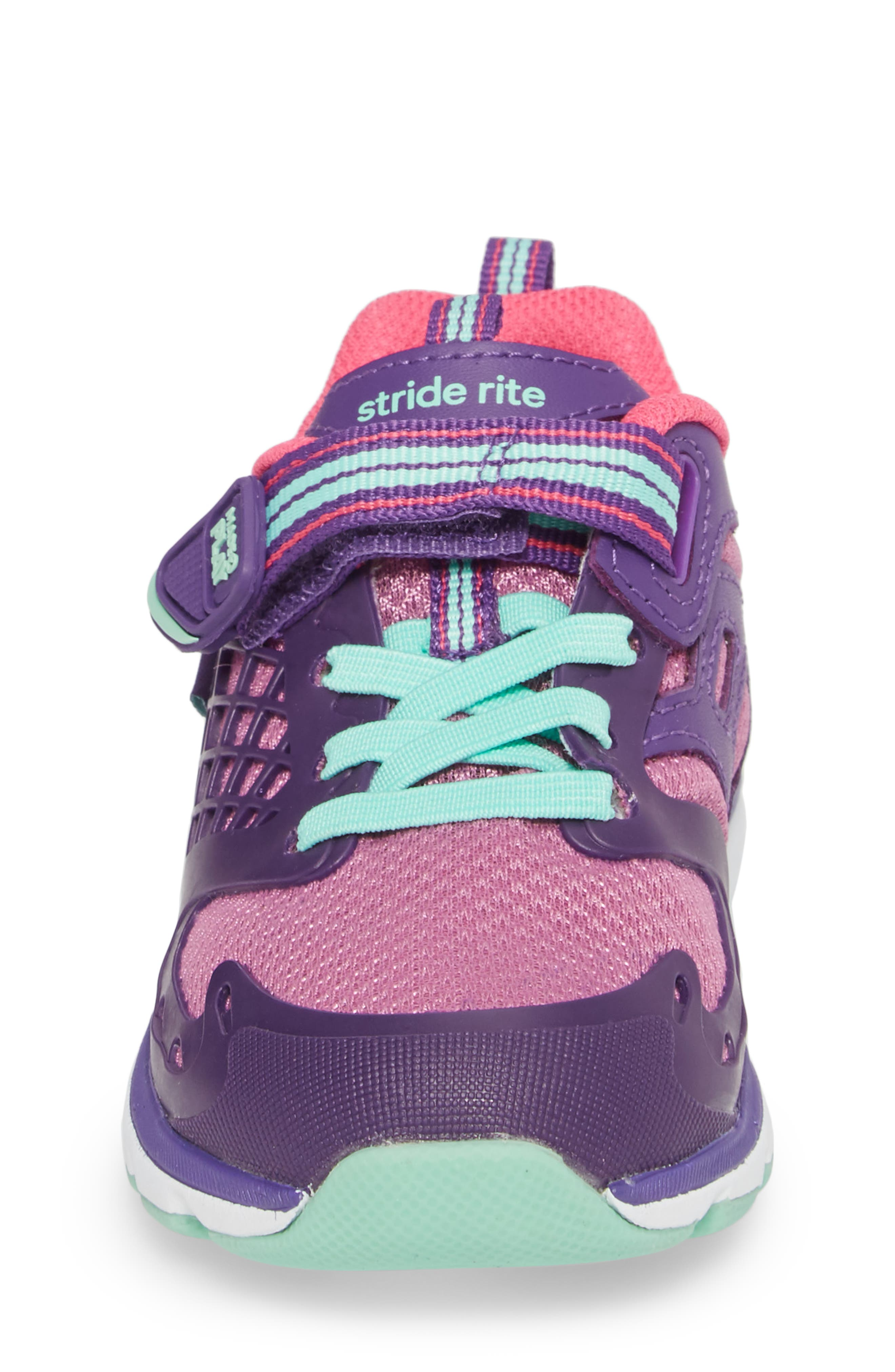 'Made2Play<sup>®</sup> Cannan Lace' Sneaker,                             Alternate thumbnail 4, color,                             Purple Leather/ Textile
