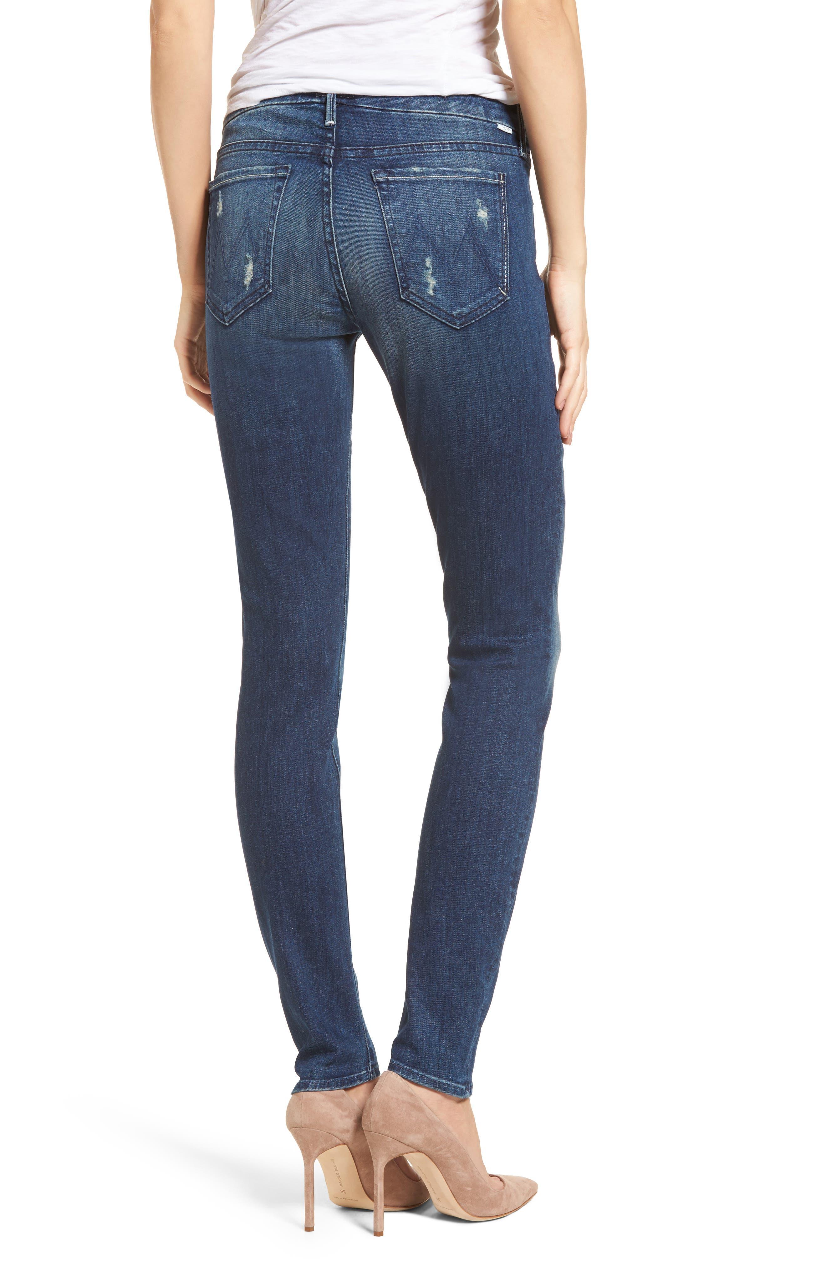 The Looker High Waist Skinny Jeans,                             Alternate thumbnail 2, color,                             Dark Graffiti