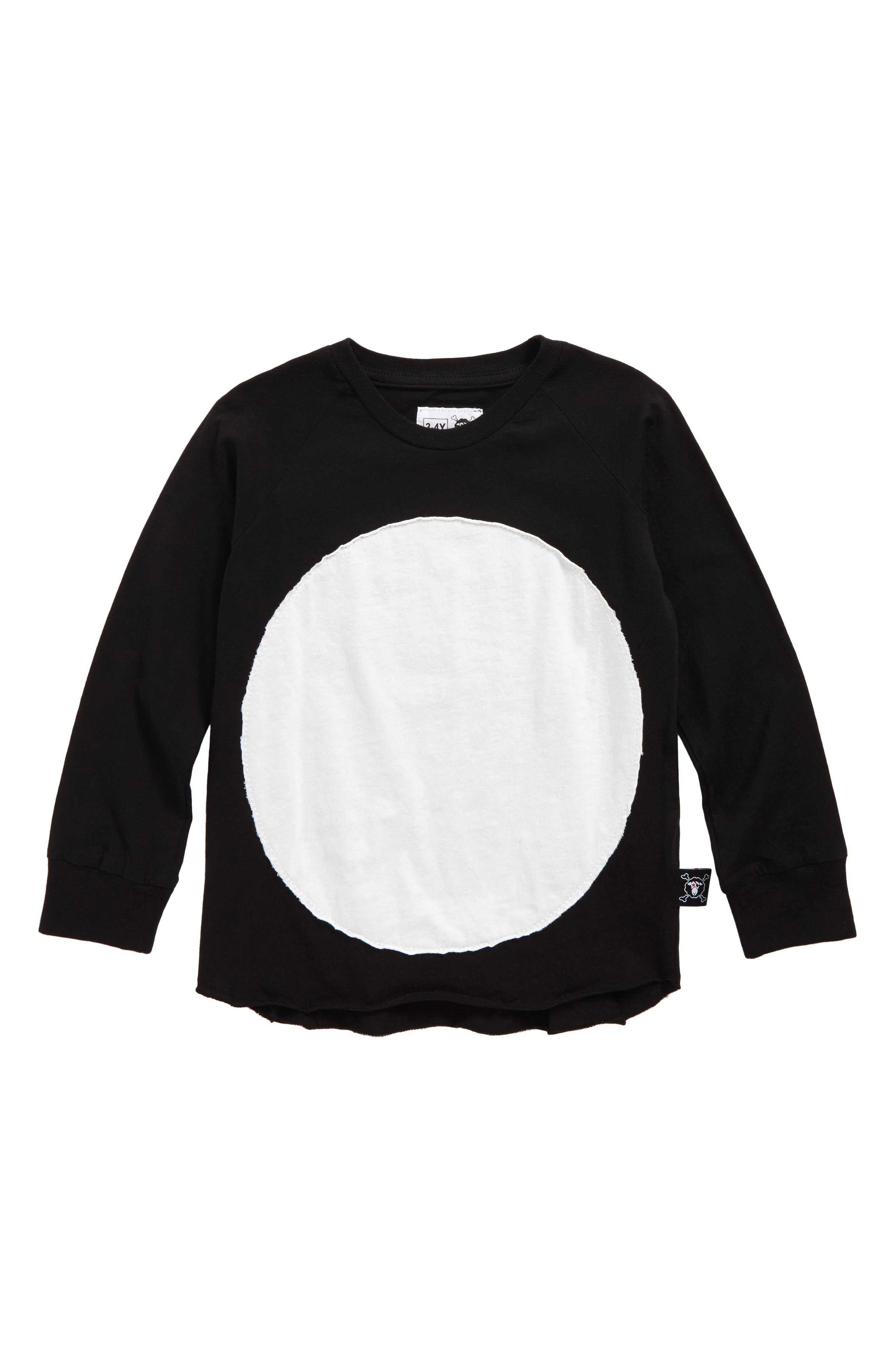 Alternate Image 1 Selected - NUNUNU Circle Patch T-Shirt (Toddler Boys, Little Boys & Big Boys)