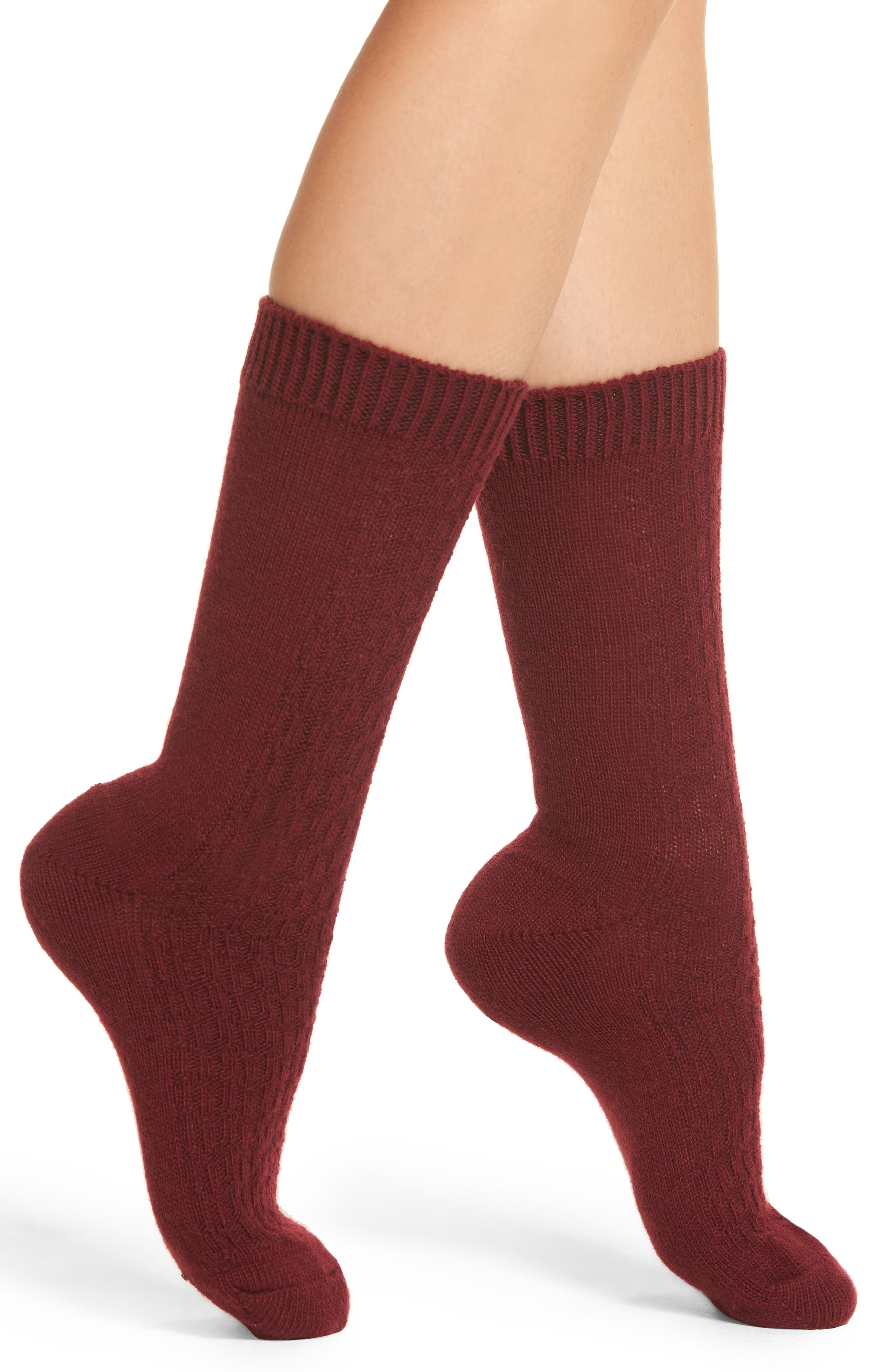 Nordstrom Luxe Baby Cable Knit Crew Socks