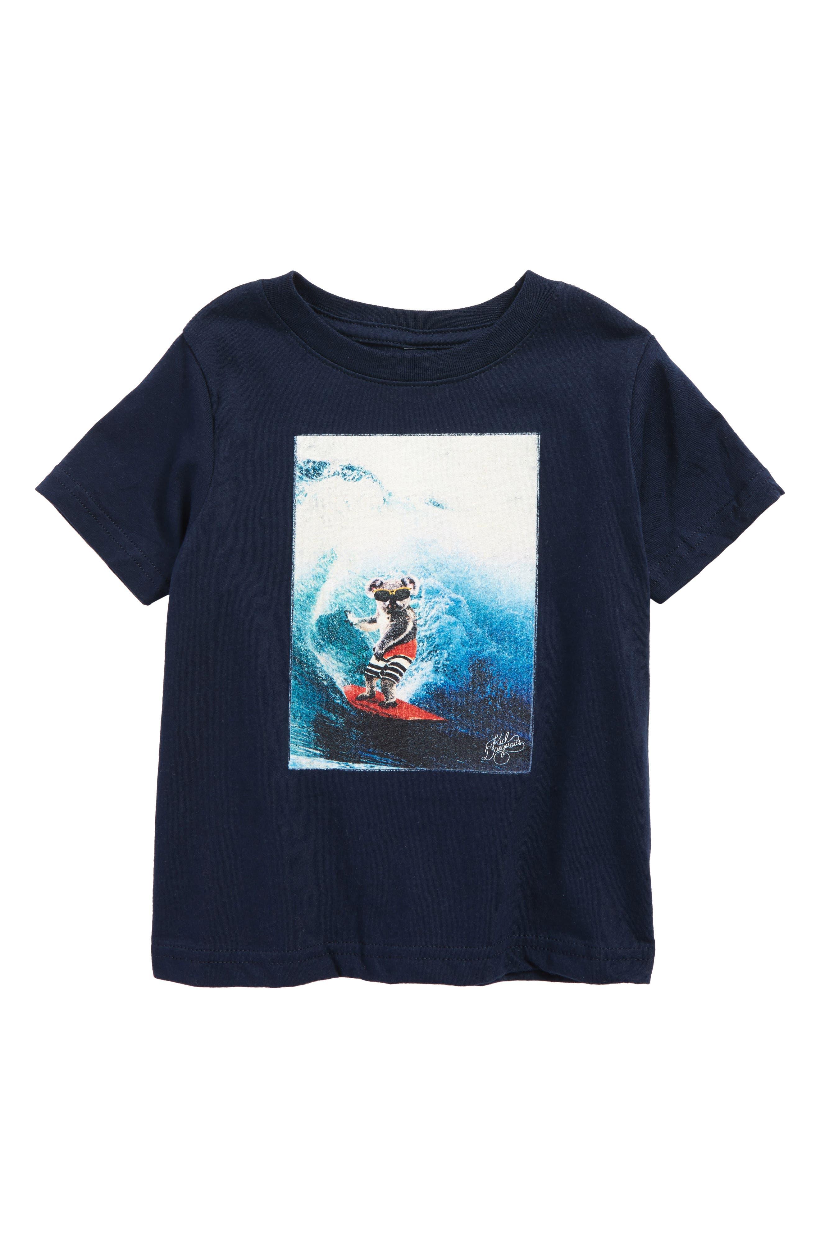 Kid Dangerous Koala Surfer T-Shirt (Baby Boys)