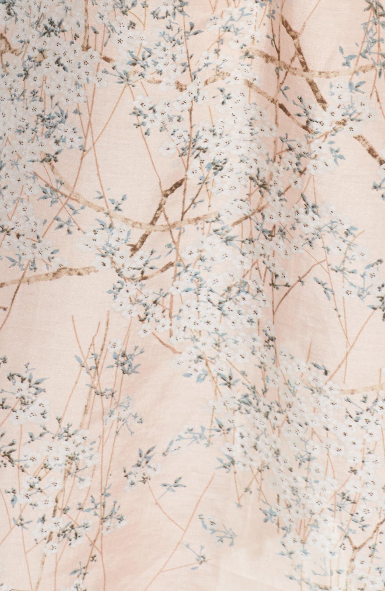 Cherry Blossom Cotton & Silk Chemise,                             Alternate thumbnail 6, color,                             Pink