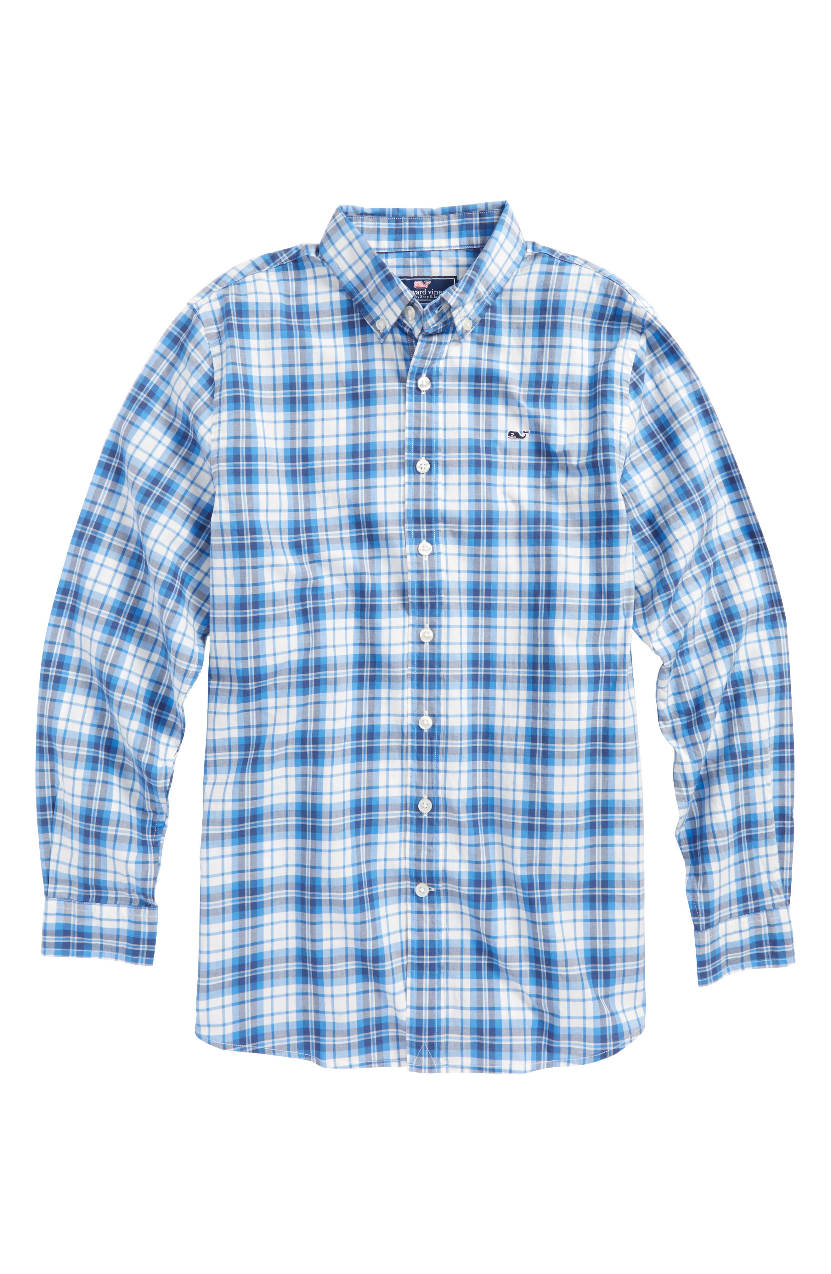 vineyard vines Shoretown Plaid Whale Shirt (Big Boys)