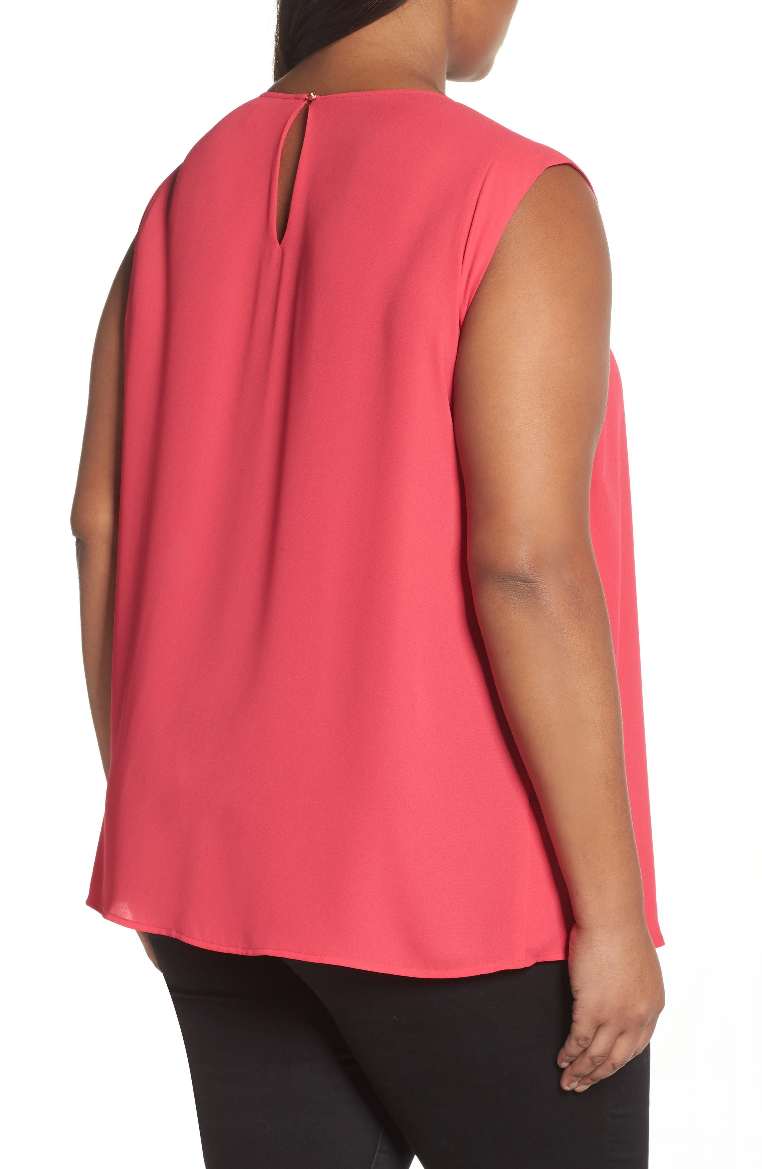 Pleated Blouse,                             Alternate thumbnail 2, color,                             Vibrant Pink