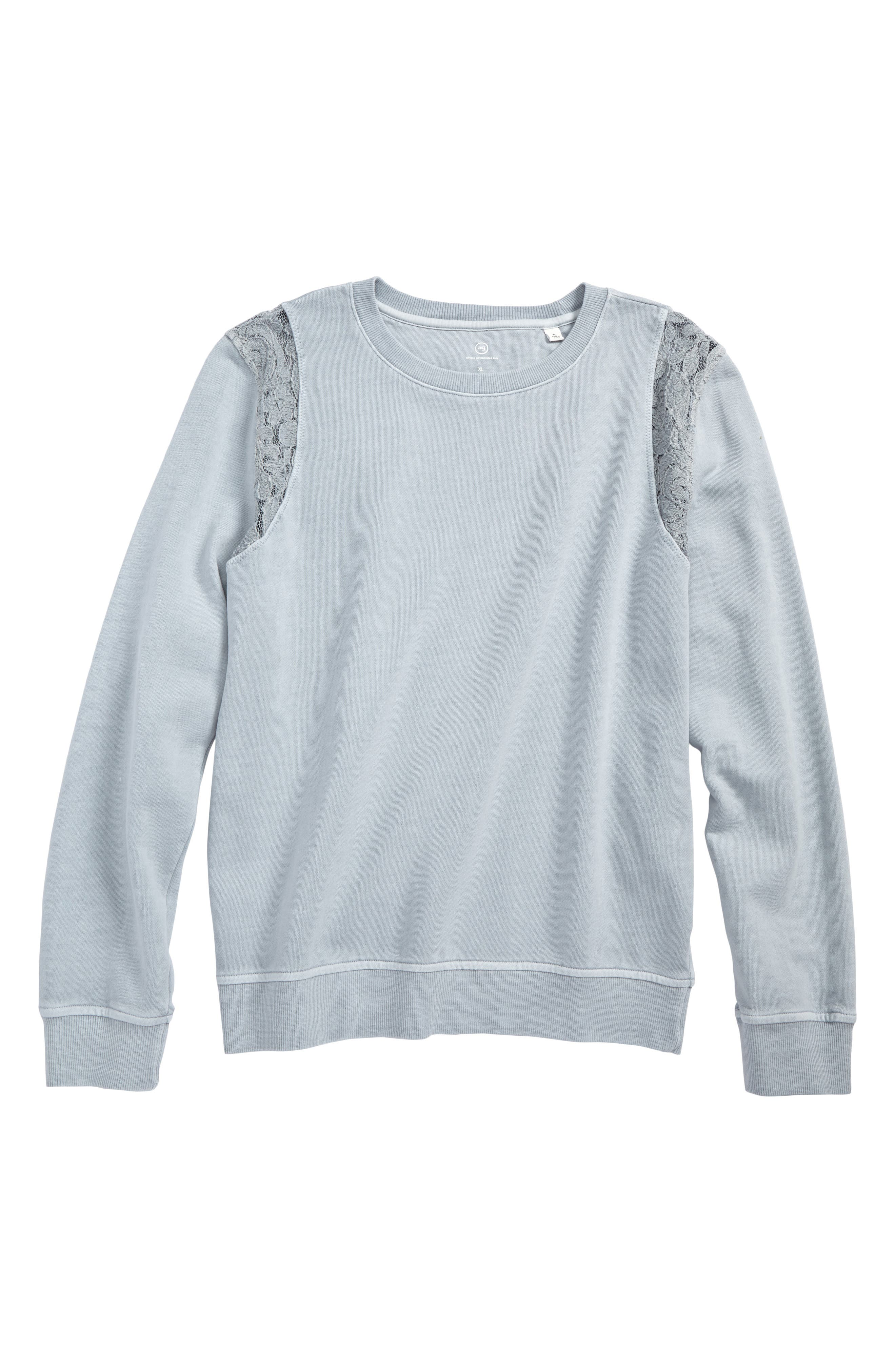 Alternate Image 1 Selected - ag adriano goldschmied kids Lace Sweatshirt (Big Girls)