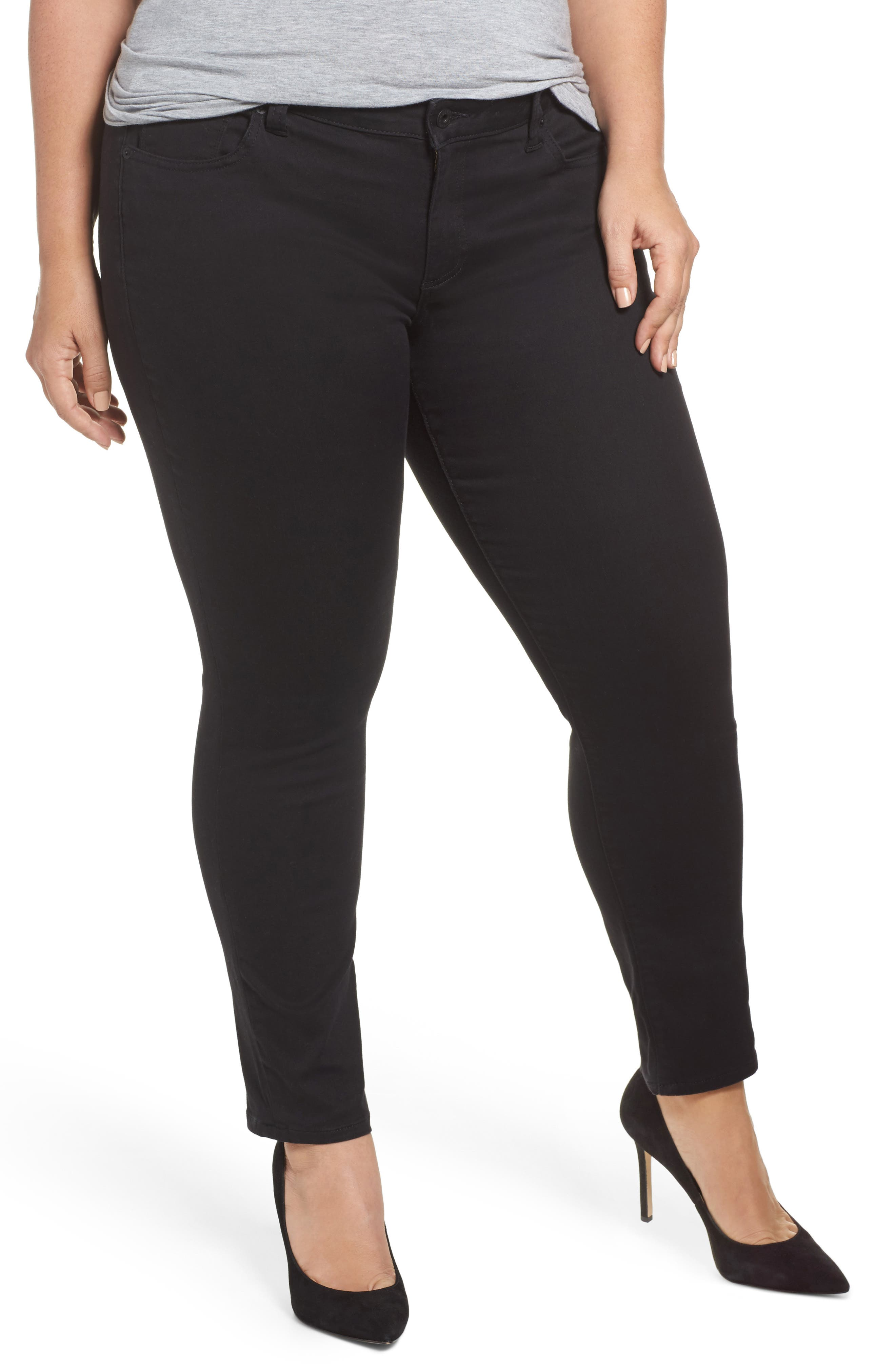 Alternate Image 1 Selected - Lucky Brand Ginger Skinny Jeans (Bell) (Plus Size)