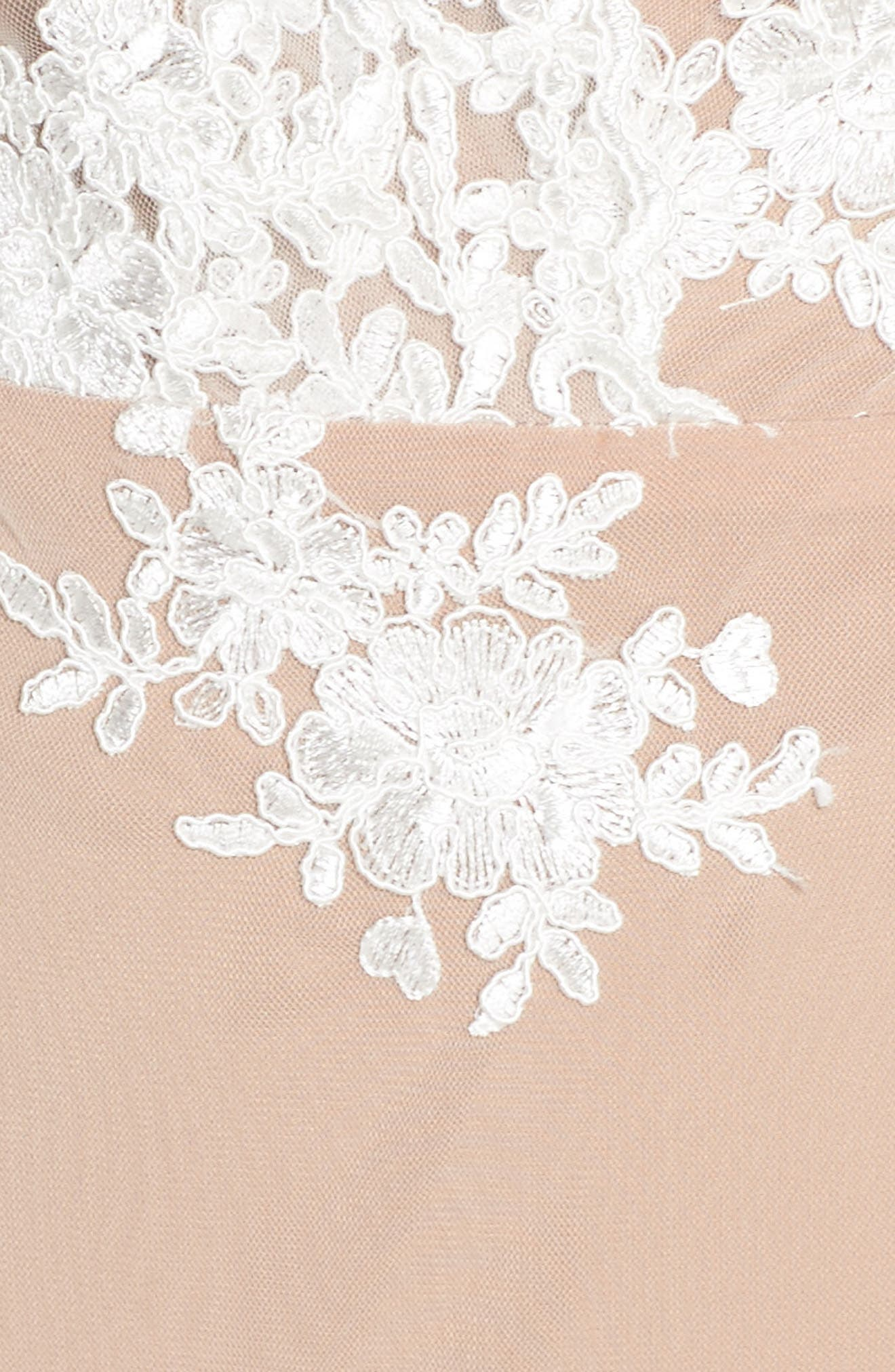 Amber Thong Bodysuit,                             Alternate thumbnail 5, color,                             Blanc