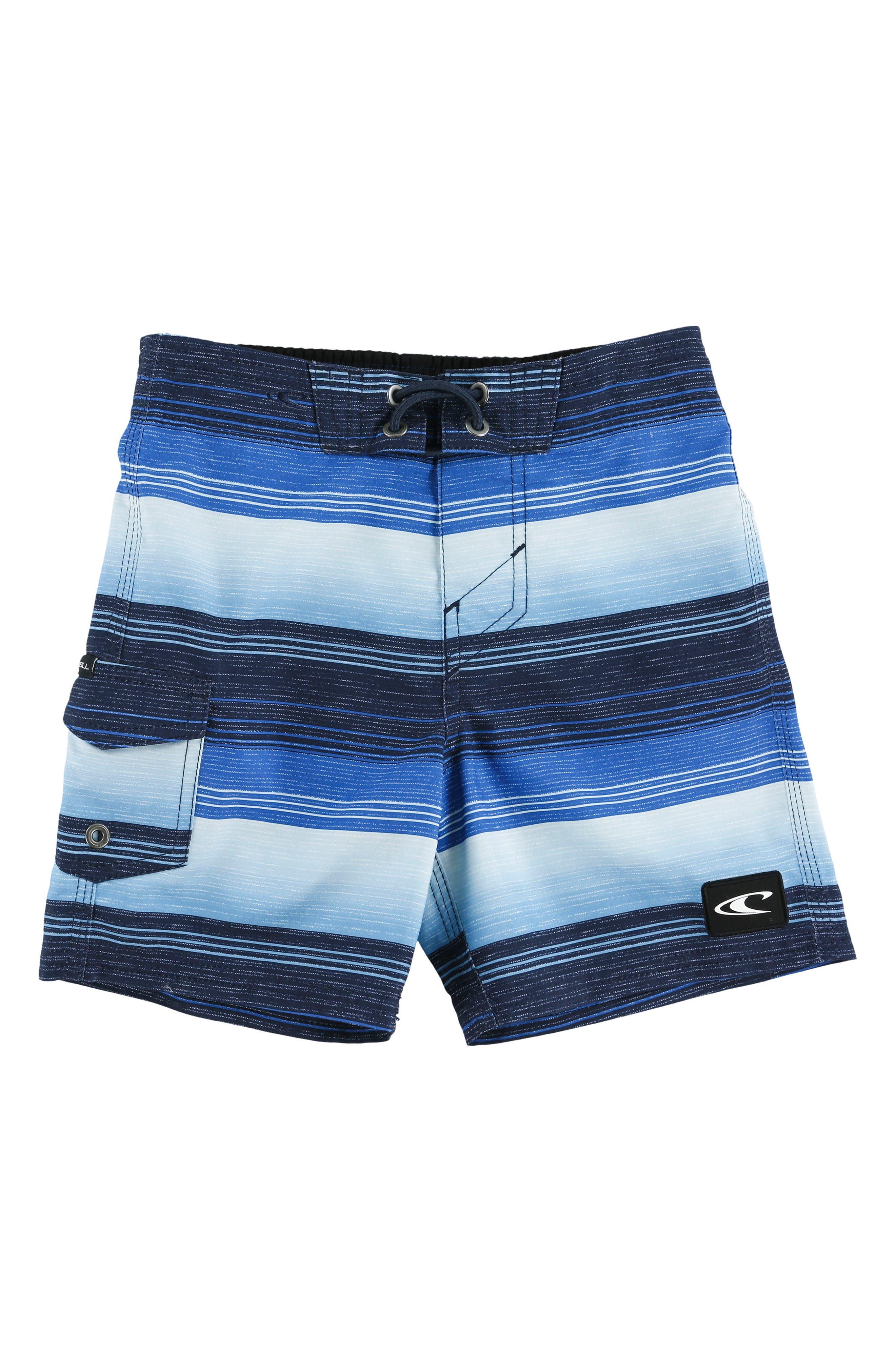 Santa Cruz Stripe Board Shorts,                             Main thumbnail 1, color,                             Blue