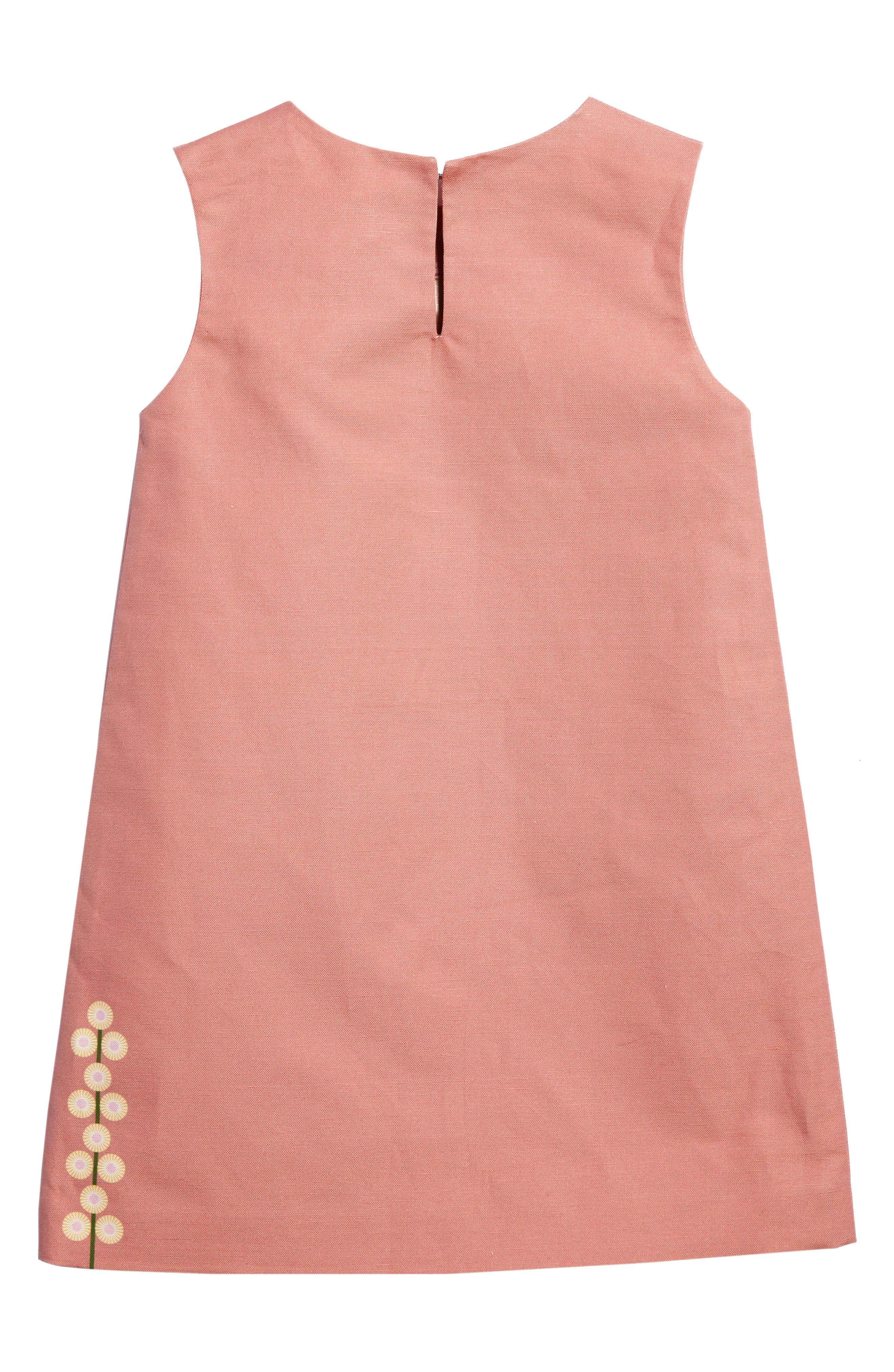 Alternate Image 2  - Kid Made Modern Rose Bird Shift Dress (Little Girls & Big Girls)