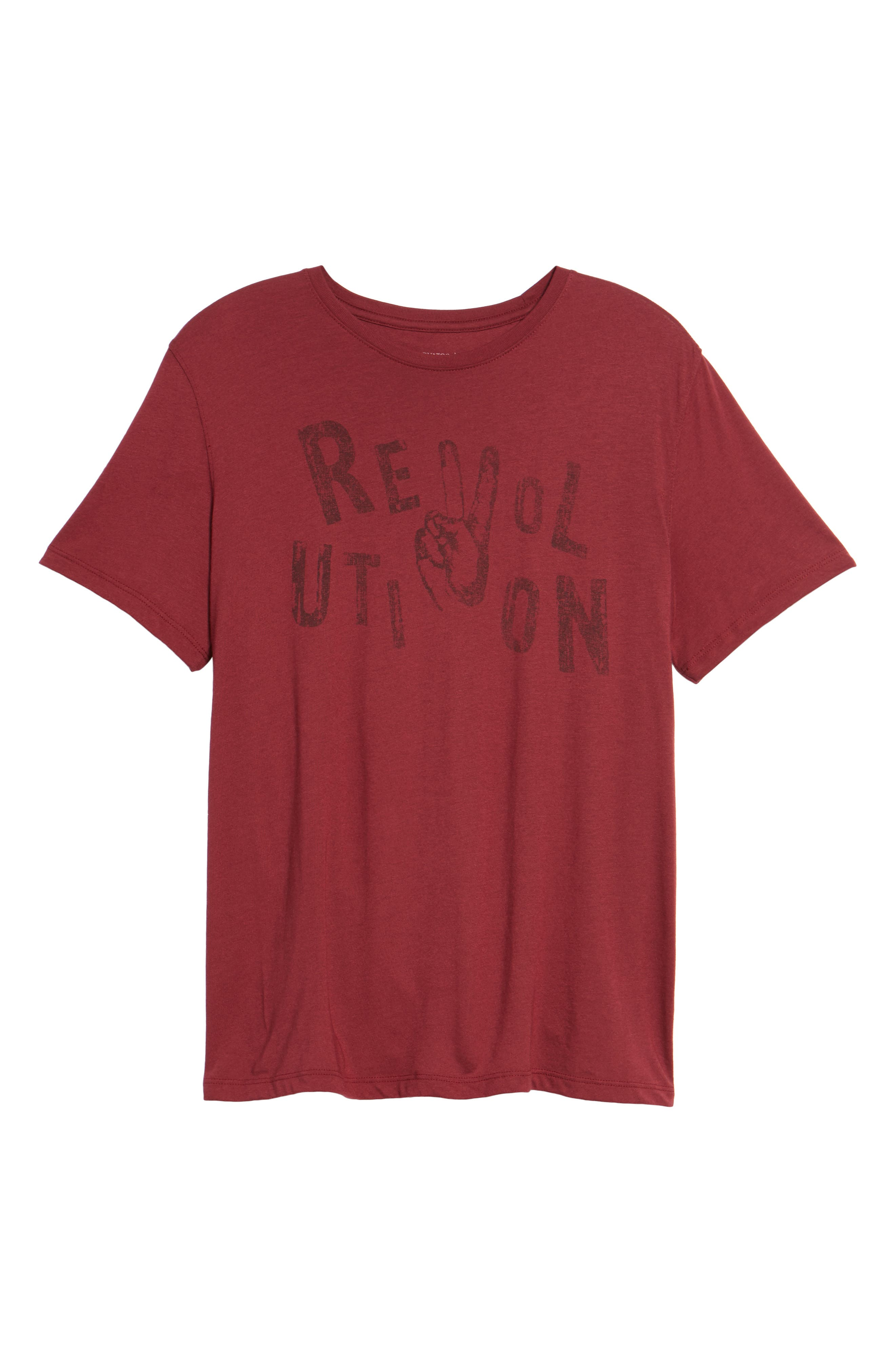 Revolution Graphic T-Shirt,                             Alternate thumbnail 6, color,                             Oxblood