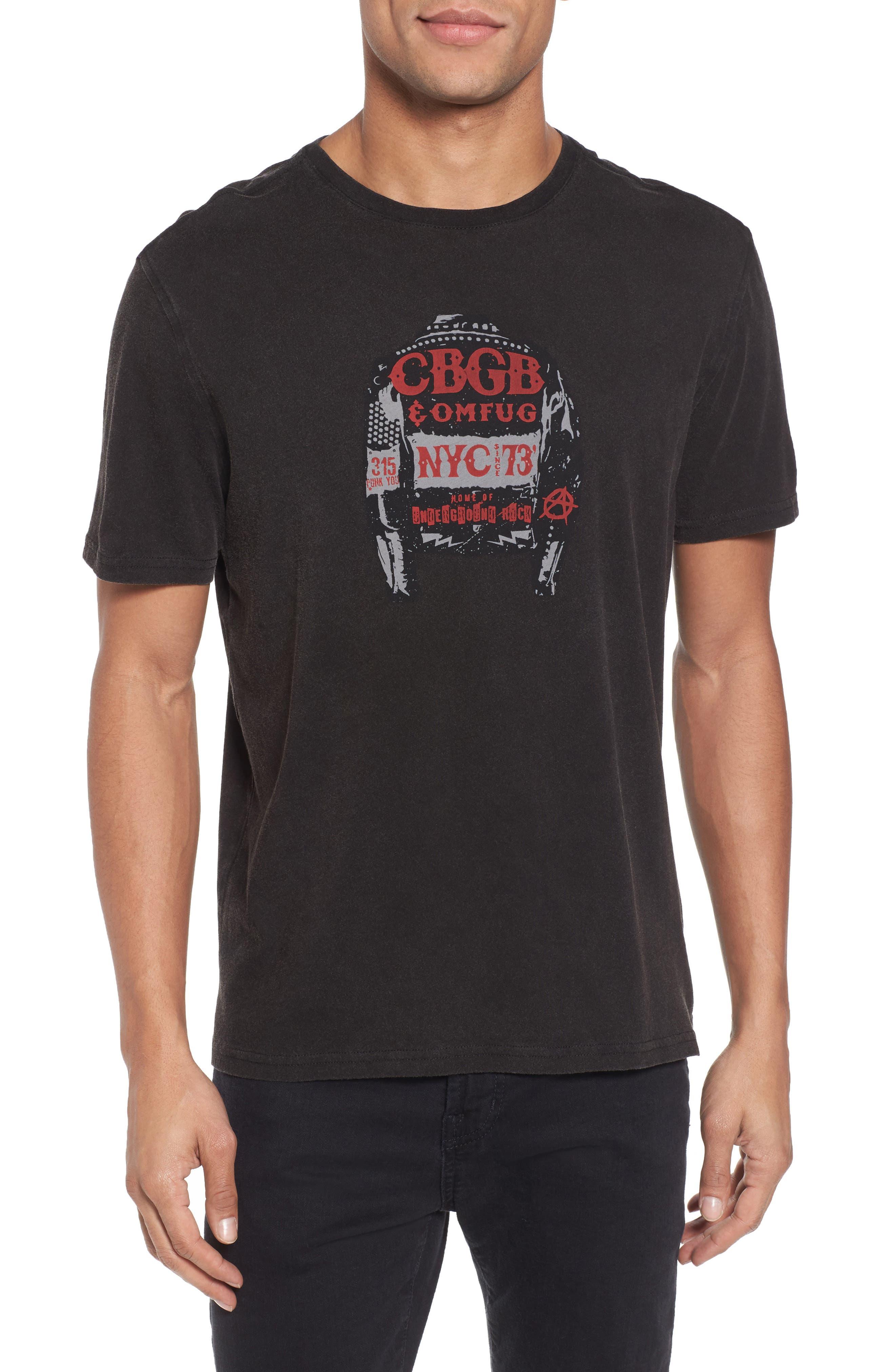 CBGB Jacket Graphic T-Shirt,                         Main,                         color, Black