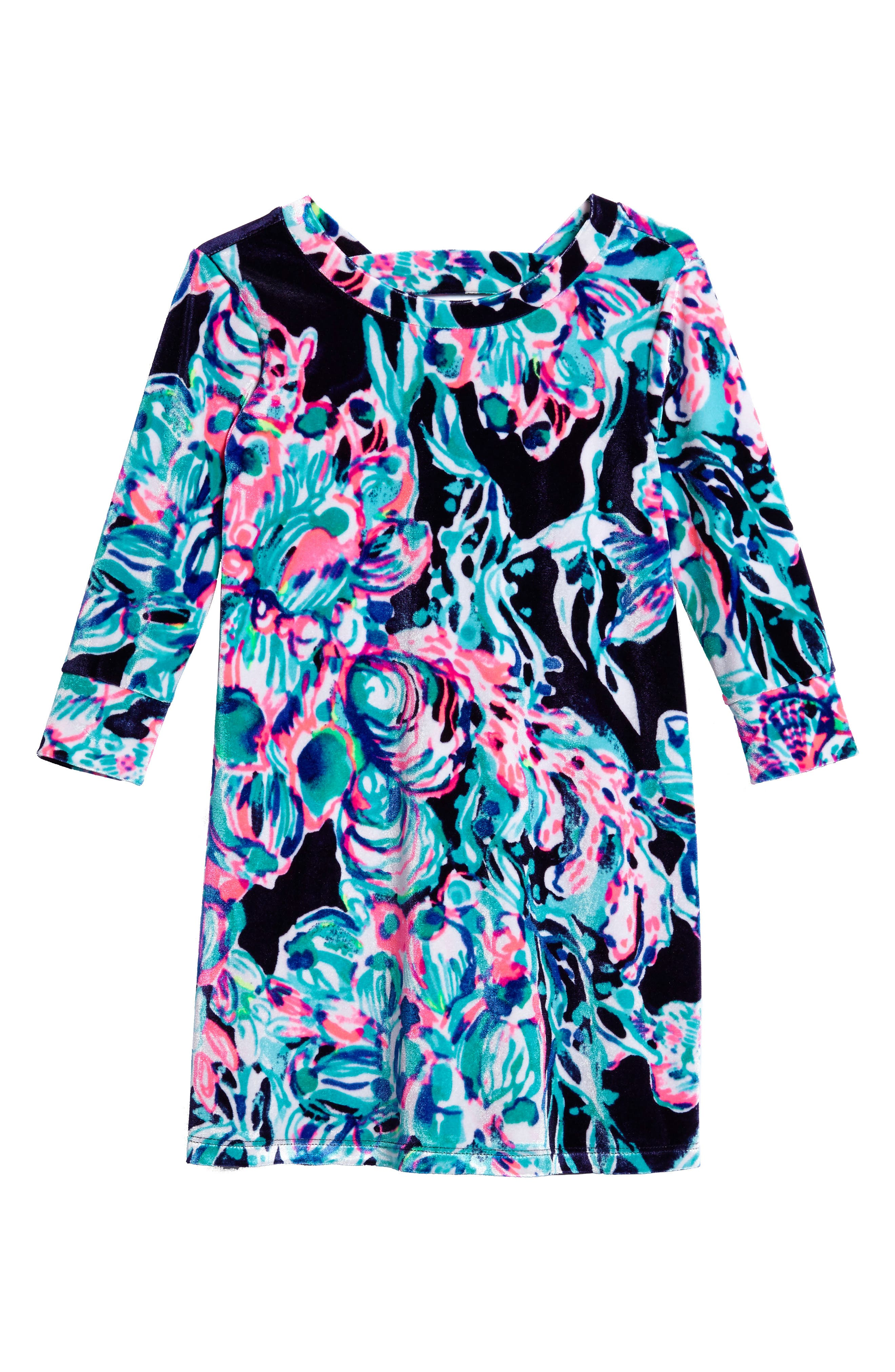 Alternate Image 1 Selected - Lilly Pulitzer® Mini Olive Velour Dress (Toddler Girls, Little Girls & Big Girls)