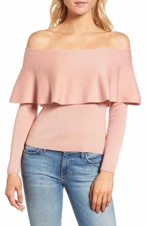 cupcakes and cashmere Otis Off the Shoulder Sweater
