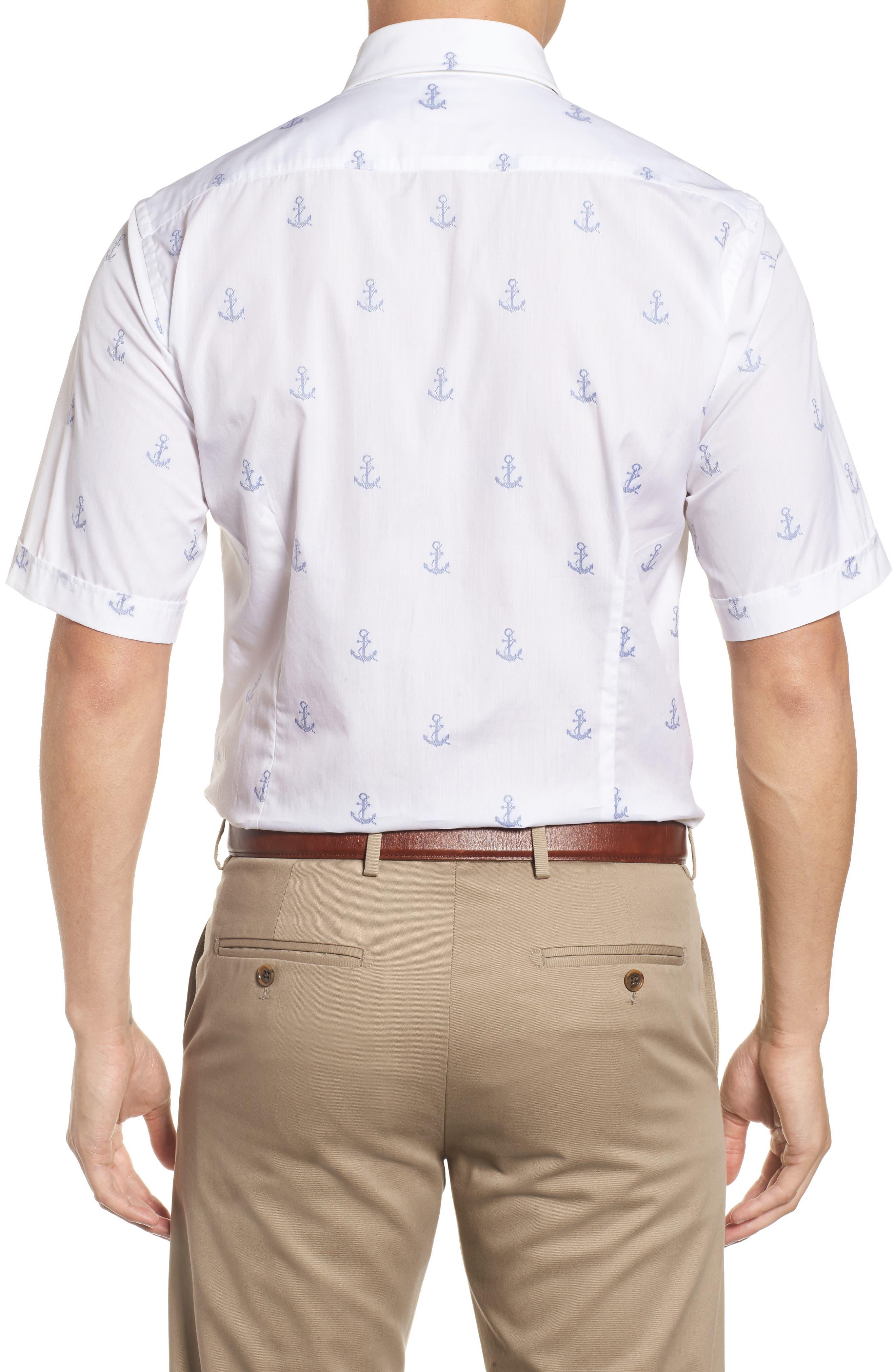 Paul&Shark Regular Fit Anchor Sport Shirt,                             Alternate thumbnail 2, color,                             White