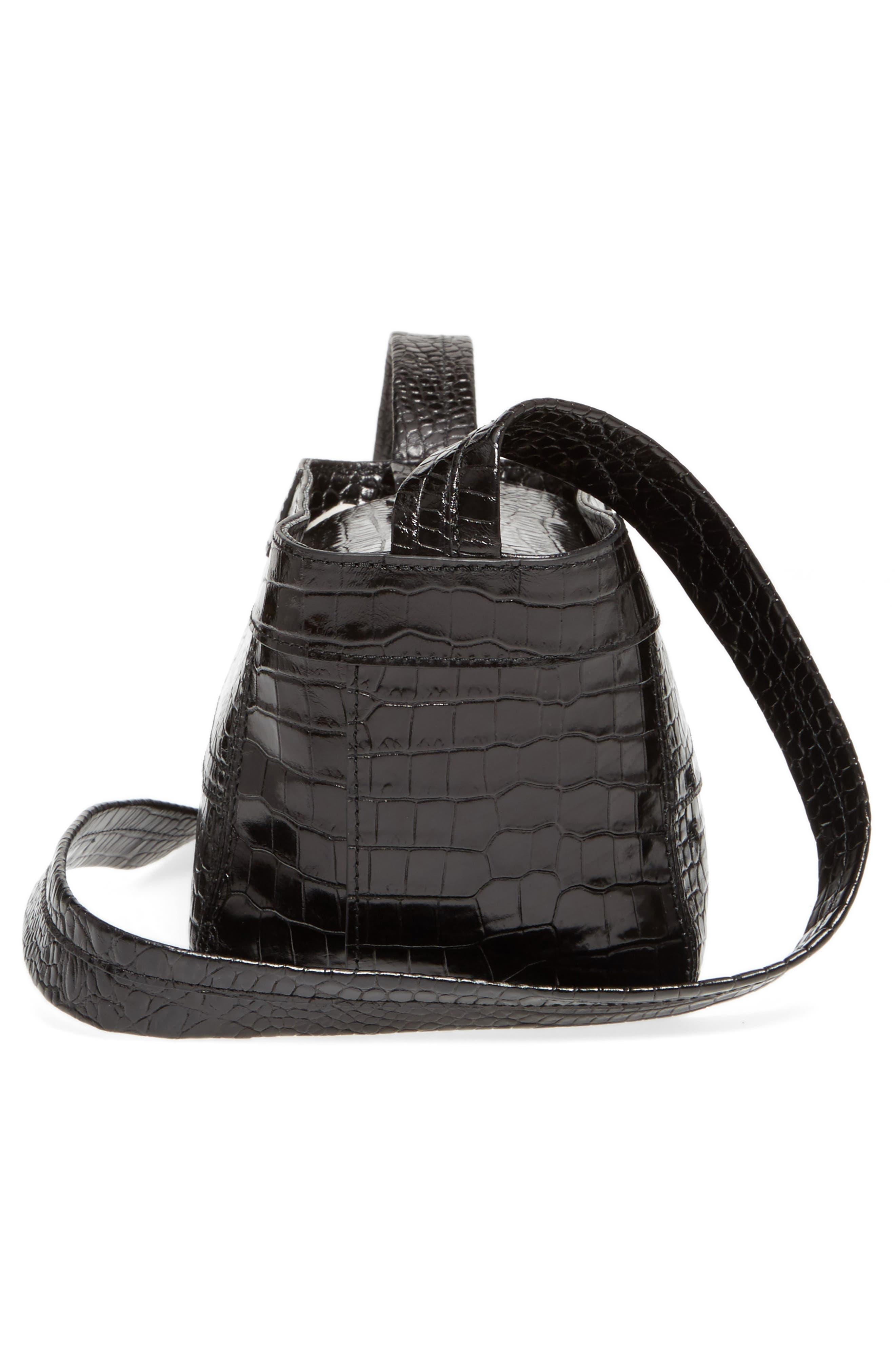 Keely Leather Crossbody Bag,                             Alternate thumbnail 5, color,                             Black