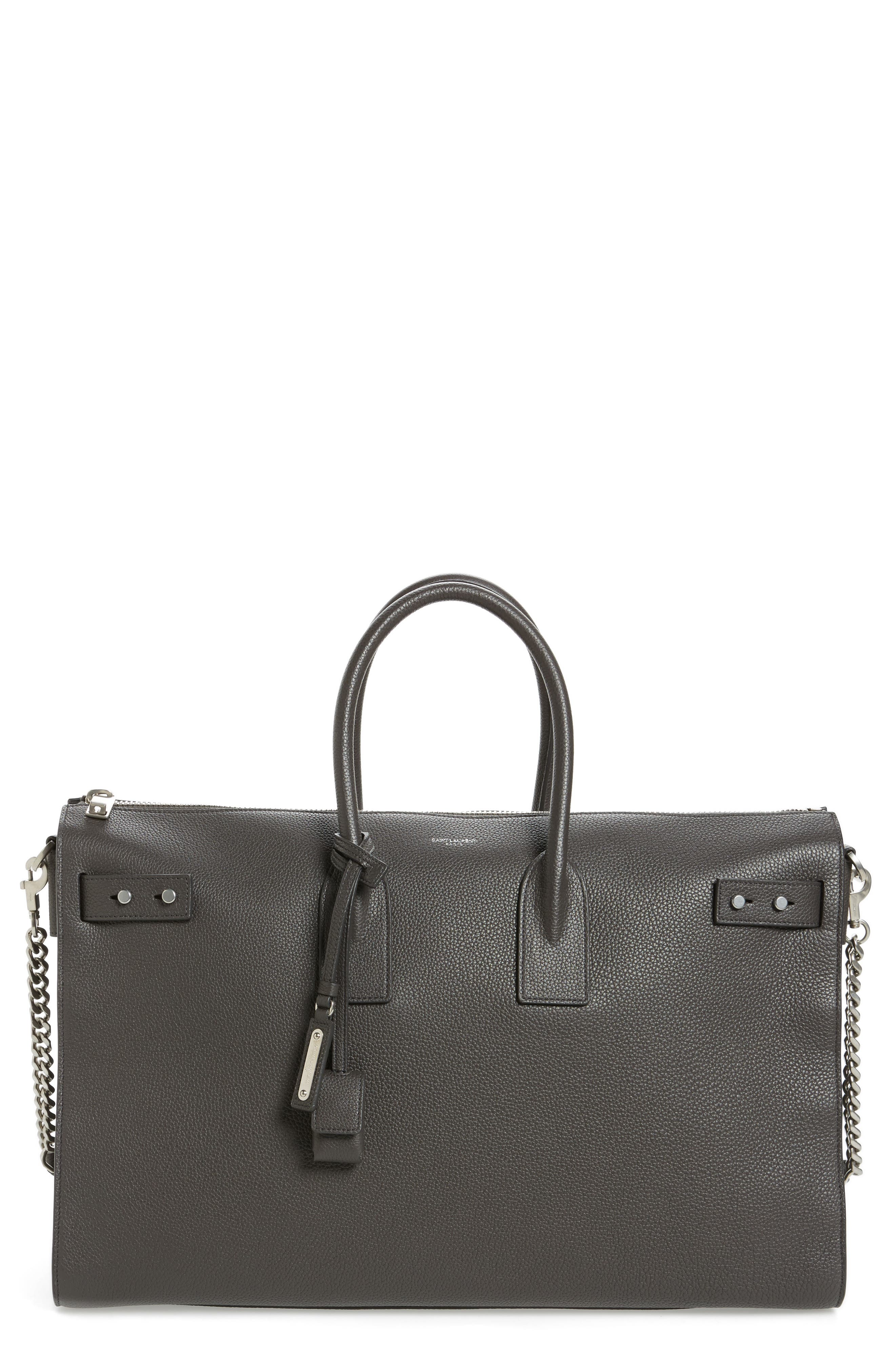 Saint Laurent Large Sac du Jour Leather Duffel Tote