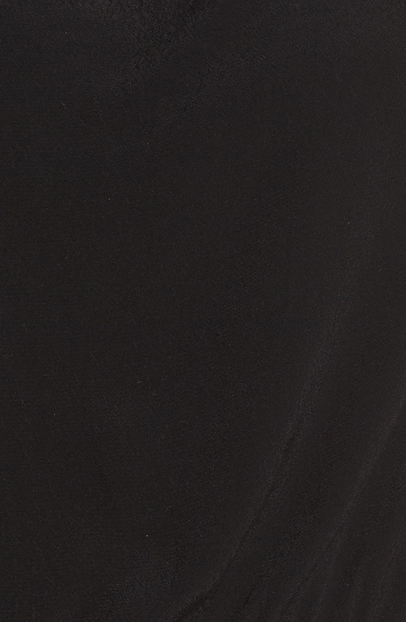 Cold Shoulder Jumpsuit,                             Alternate thumbnail 5, color,                             Black Gold