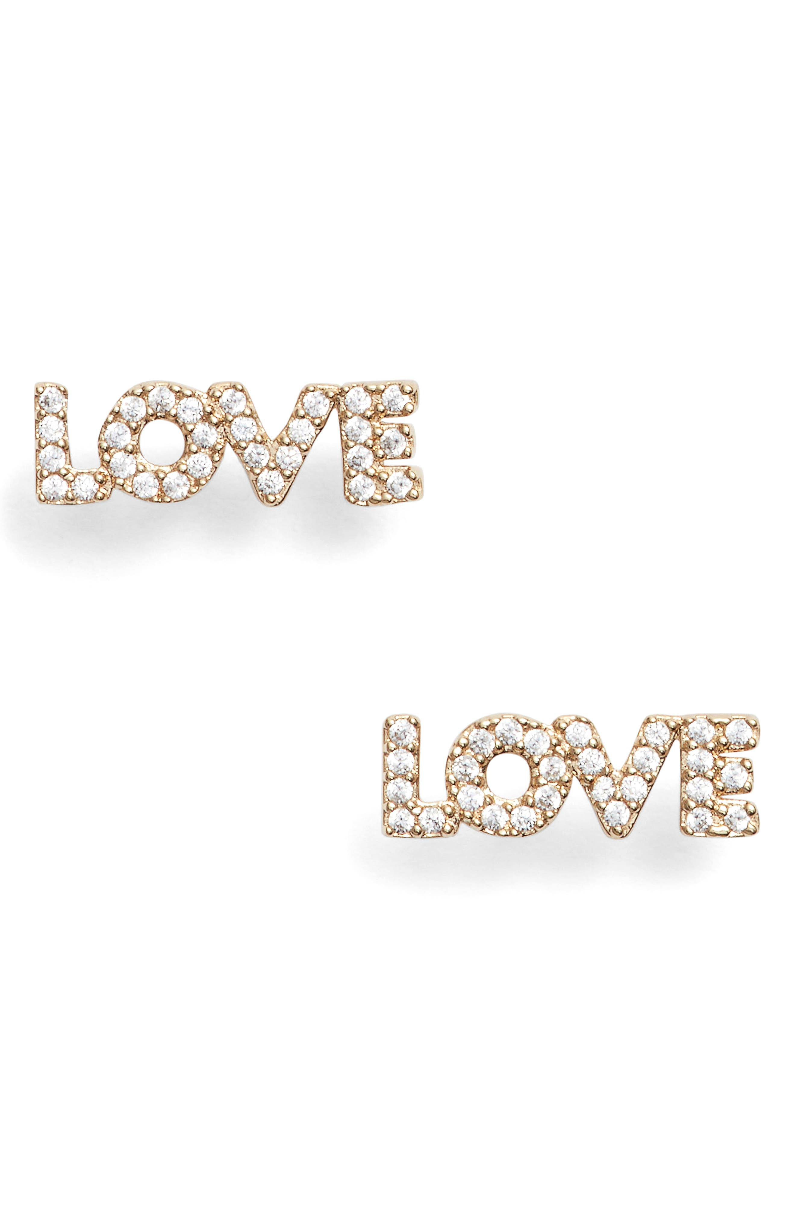Nadri Love Earrings