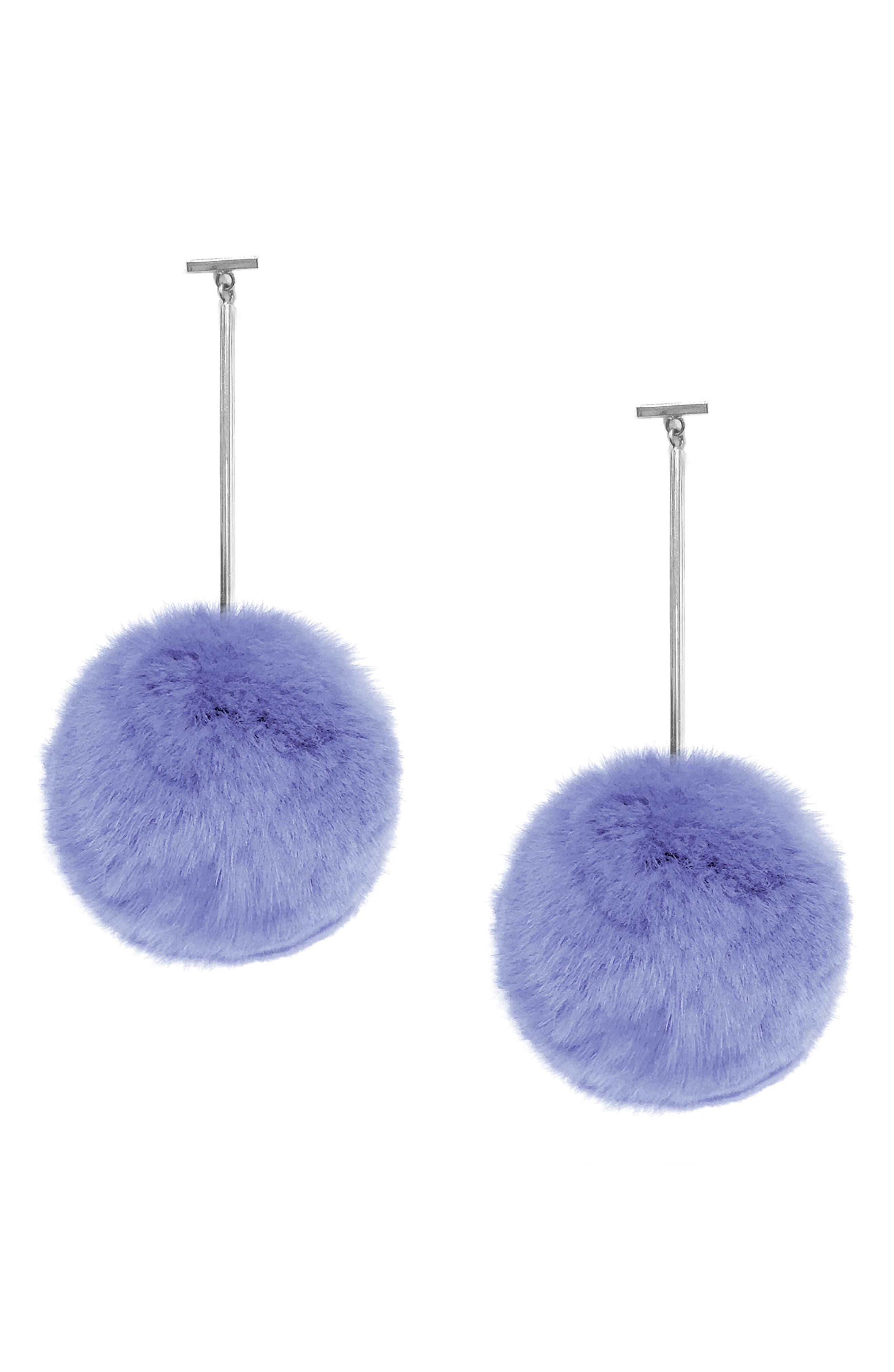 Main Image - Tuleste Pompom Drop Earrings