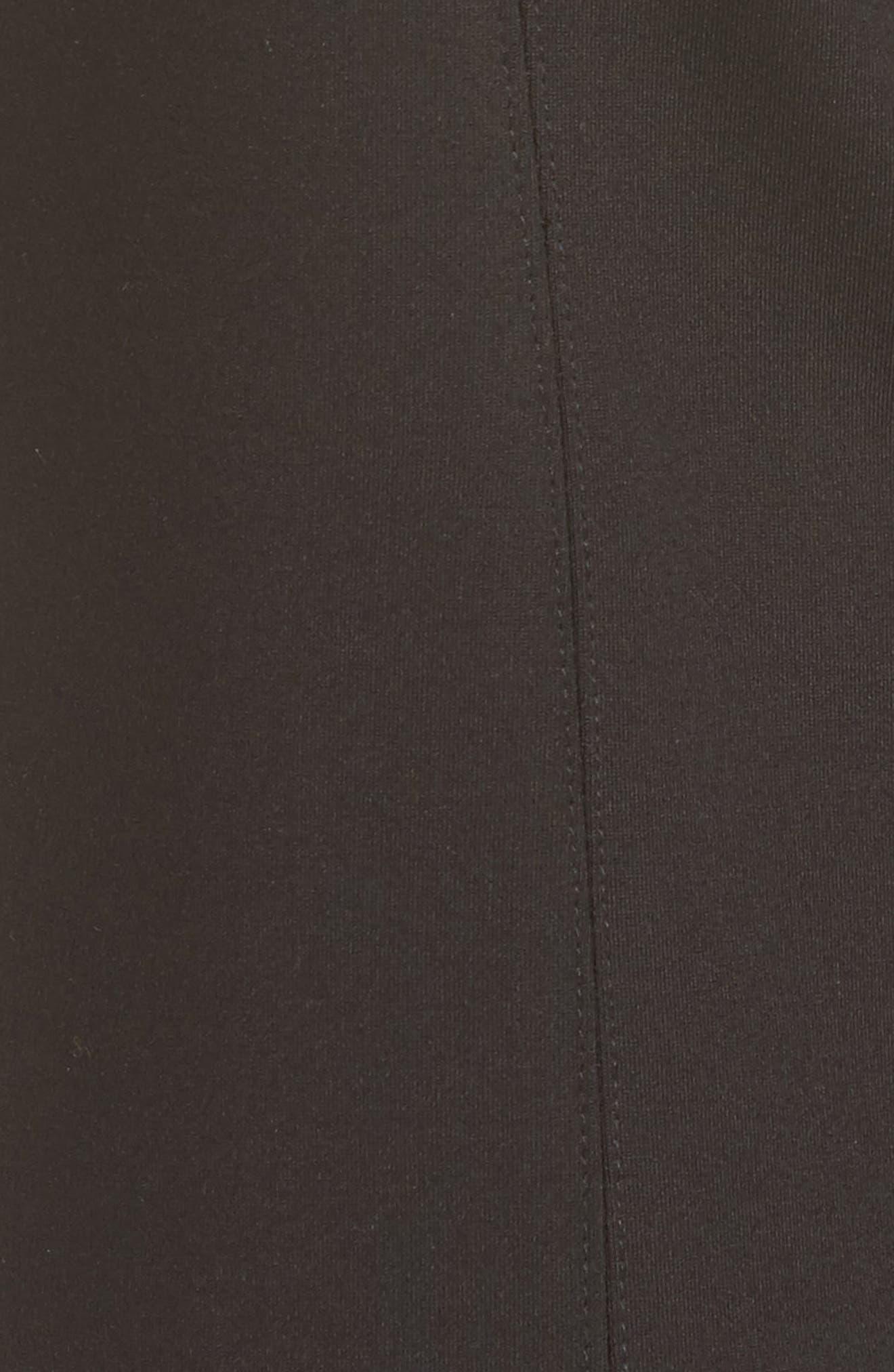 Flared Crop Ponte Pants,                             Alternate thumbnail 5, color,                             Black