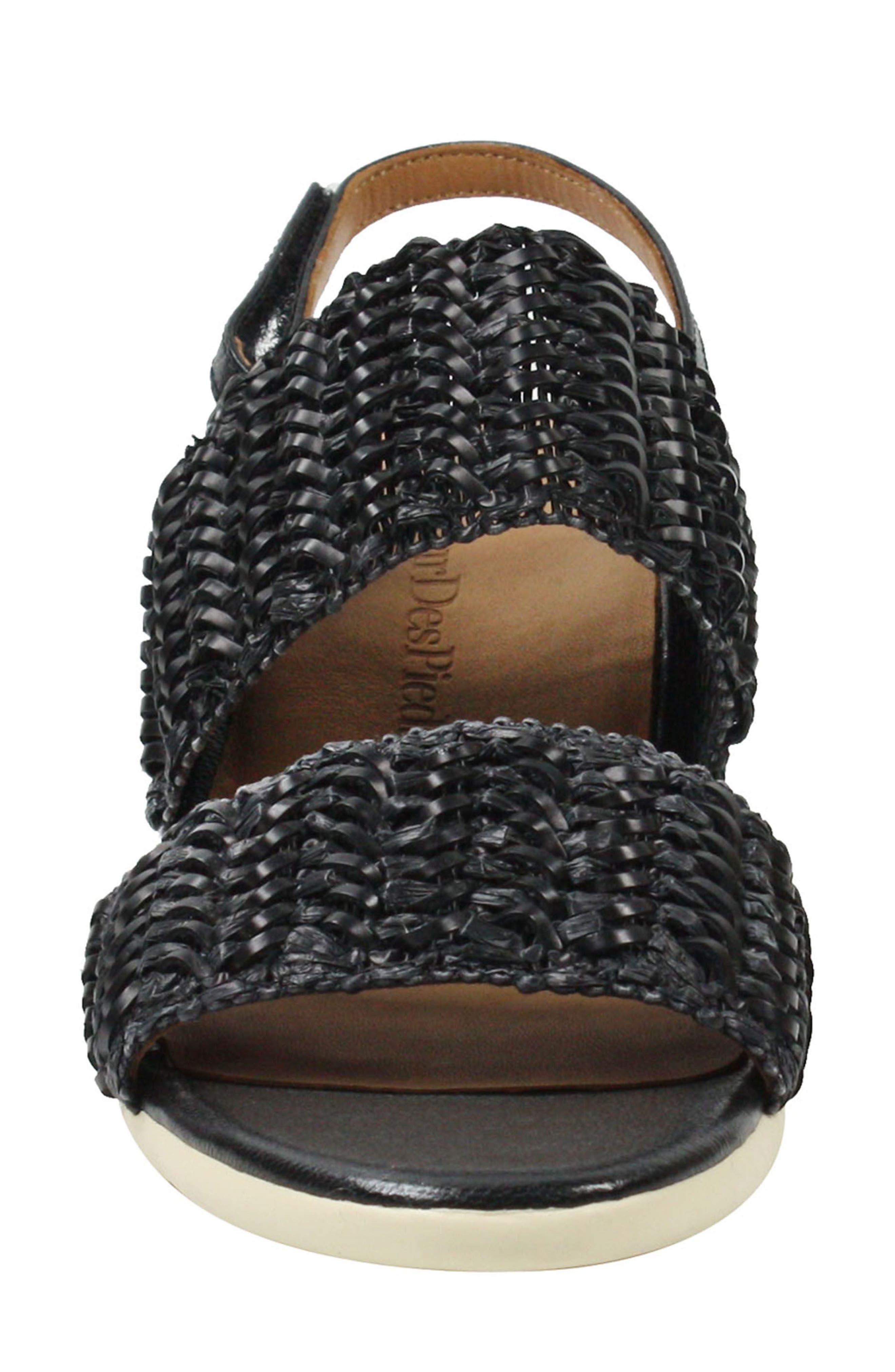 Ulrica Sandal,                             Alternate thumbnail 5, color,                             Black Fabric